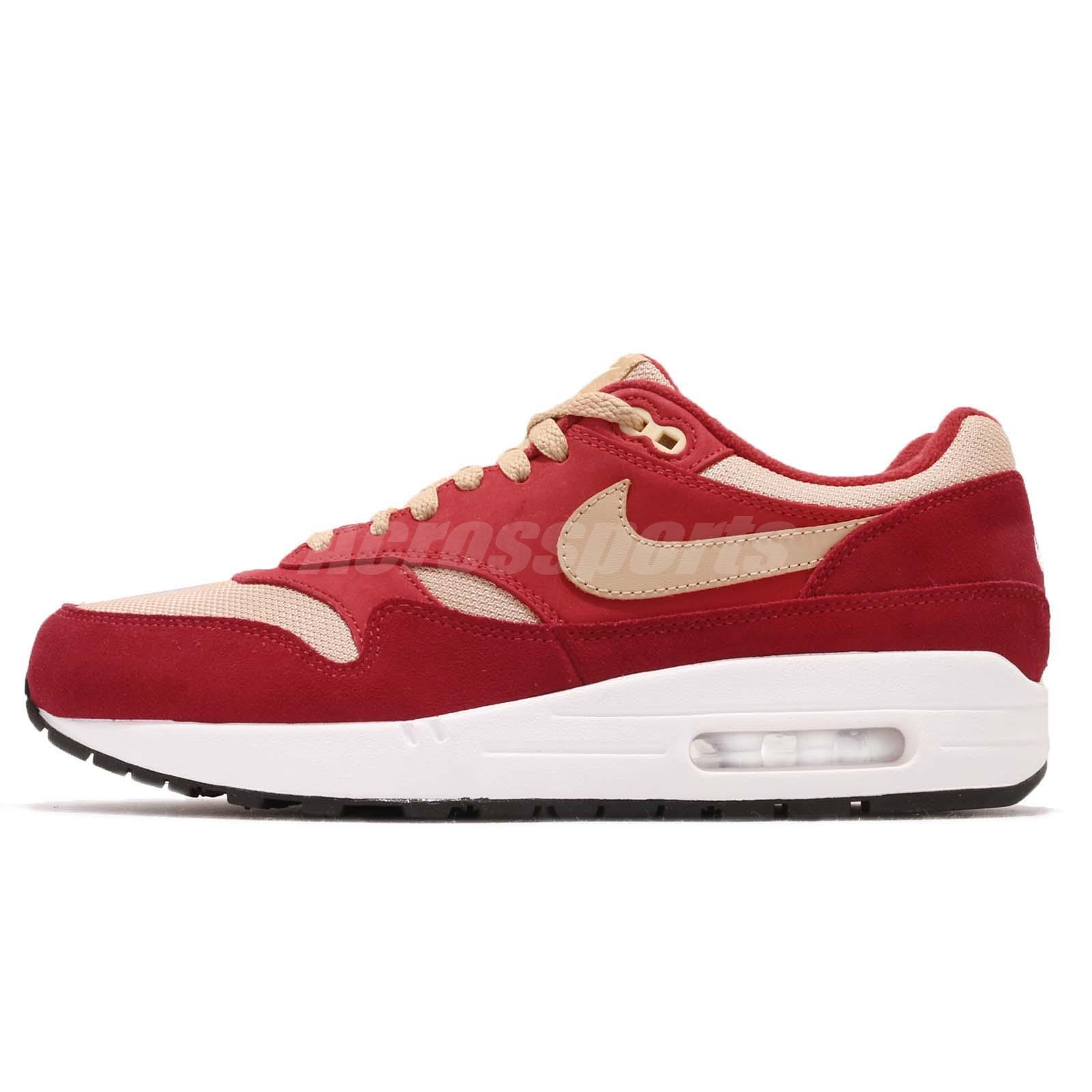 watch 293e4 9a945 atmos X Nike Air Max 1 Premium Retro Red Curry Pack Men Running Shoes 908366 -600