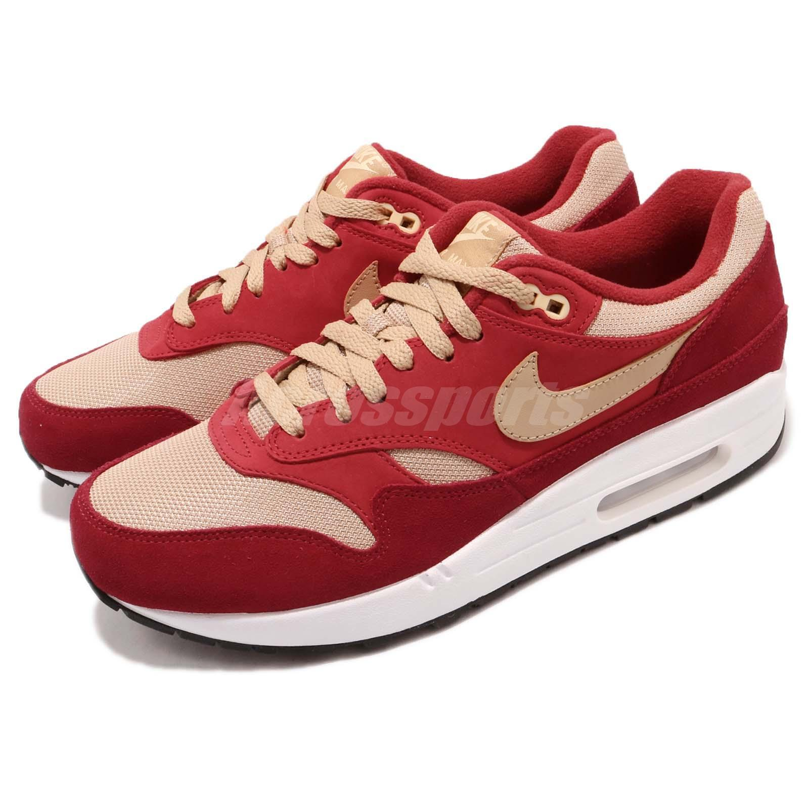 best loved 23678 8f7b7 Details about atmos X Nike Air Max 1 Premium Retro Red Curry Pack Men  Running Shoes 908366-600