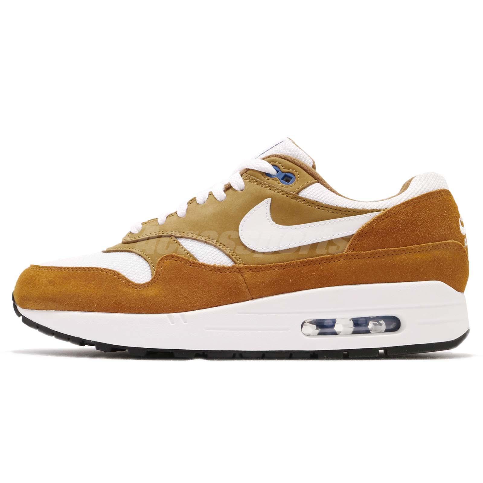 Details about Nike Air Max 1 Premium Retro I Atmos Dark Curry Men Running Shoes 908366 700