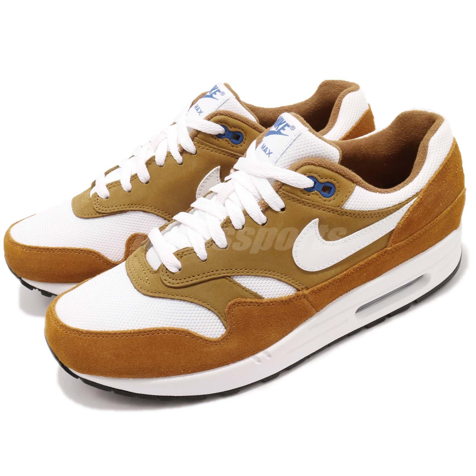 78d032fc21ba Details about Nike Air Max 1 Premium Retro I Atmos Dark Curry Men Running  Shoes 908366-700