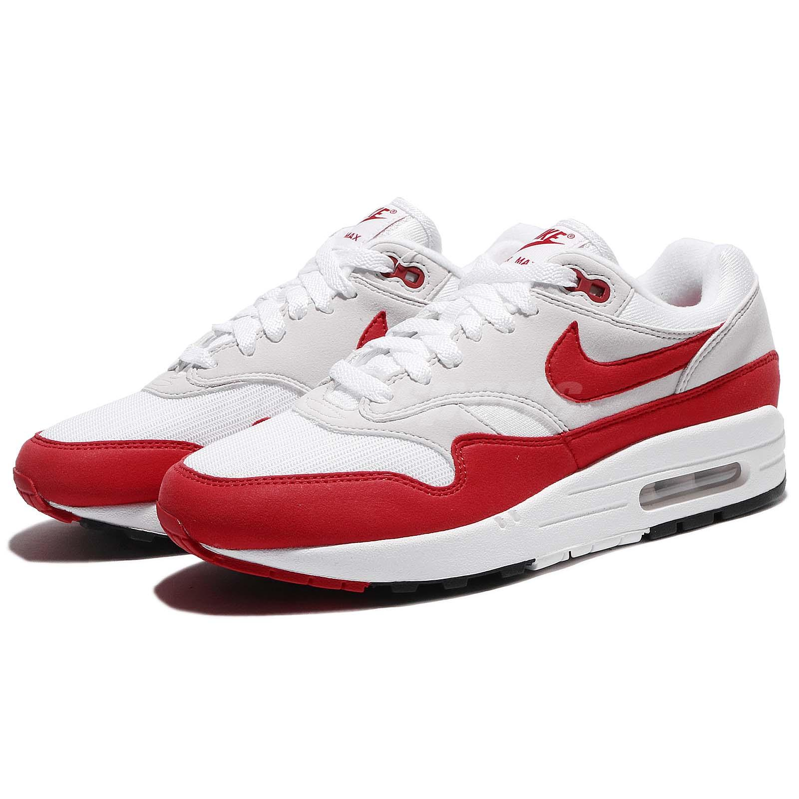 new concept 1a086 dc071 Nike Air Max 1 OG 30th Anniversary University Red White 2018 Men DS ...