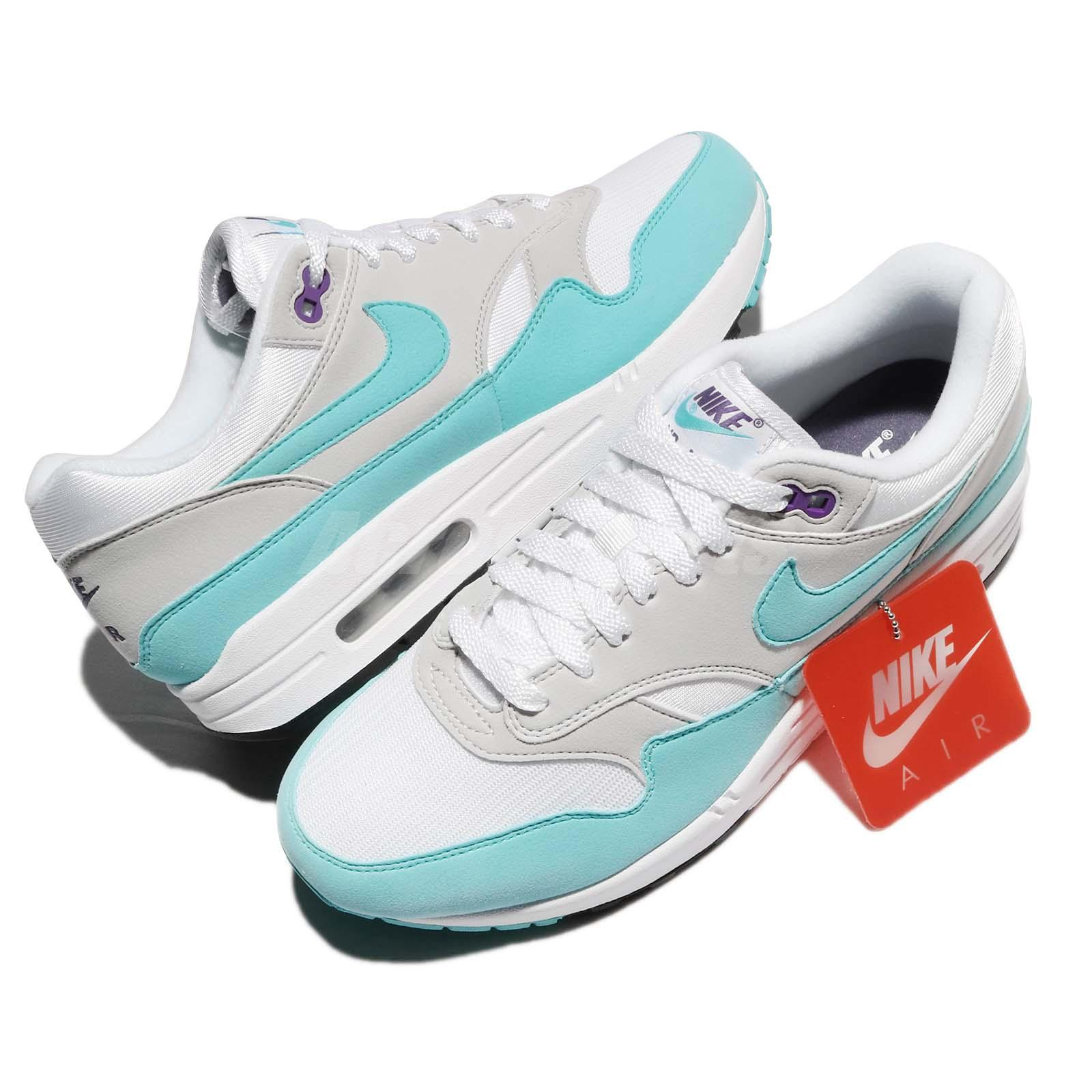 Details about Nike Air Max 1 Anniversary OG Aqua White Blue Men Running  Shoes 908375-105 99b5a6926