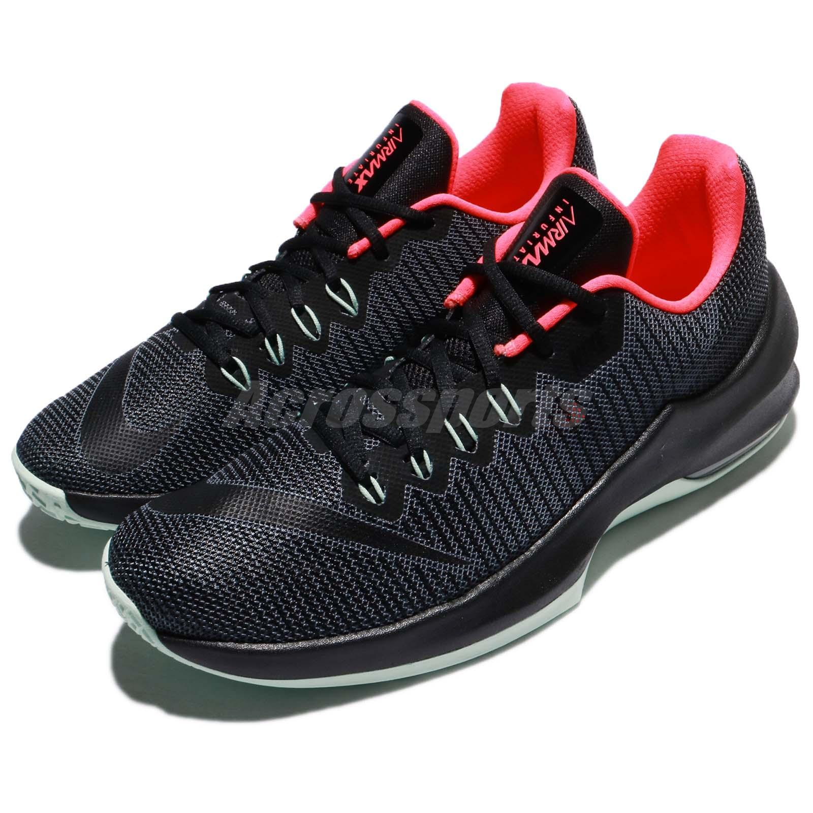 16a9aef7b42f Details about Nike Air Max Infuriate 2 Low EP II Black Mint Men Basketball  Shoes 908977-006