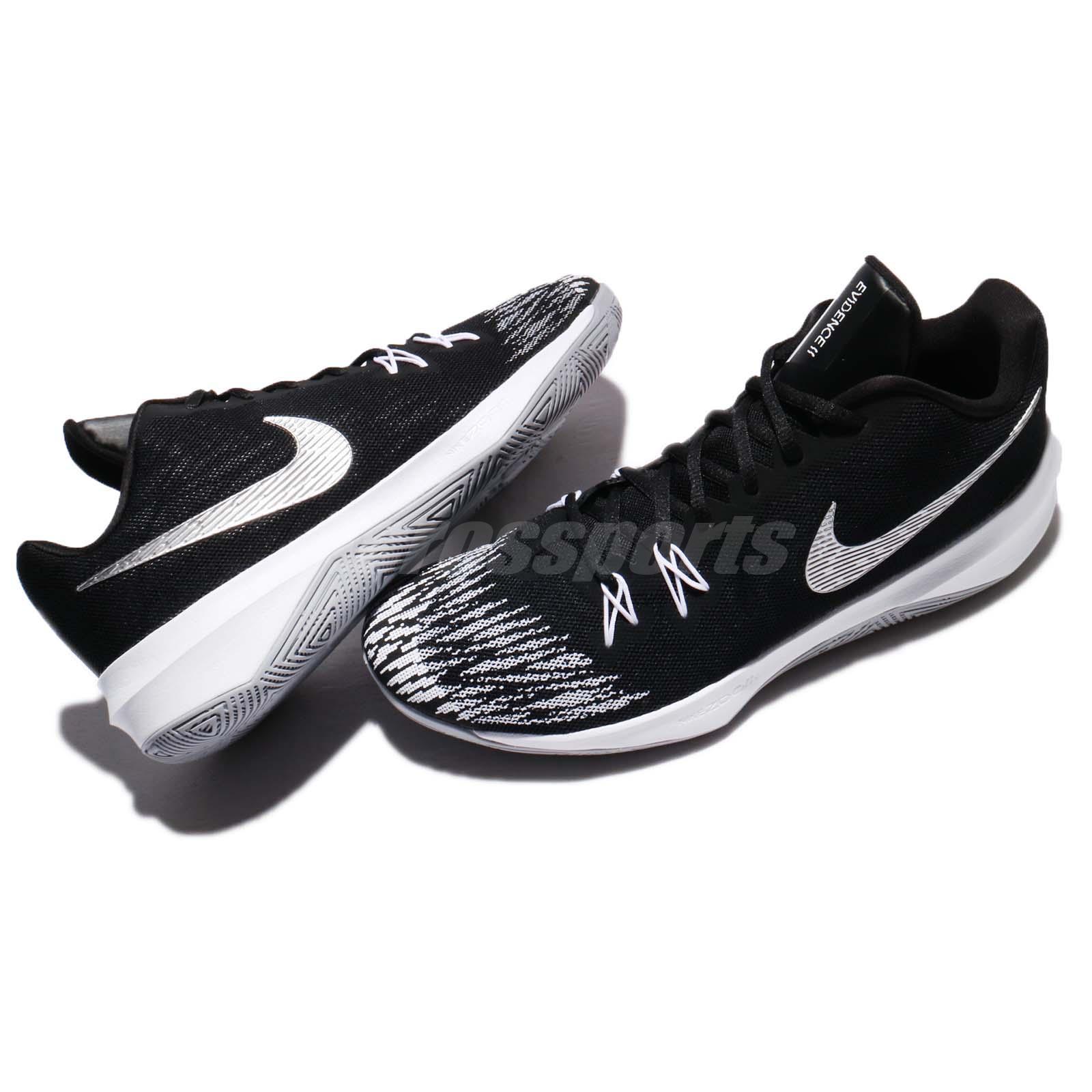 9c471b90c5b6 Nike Zoom Evidence II 2 EP Black Metallic Silver White Men ...