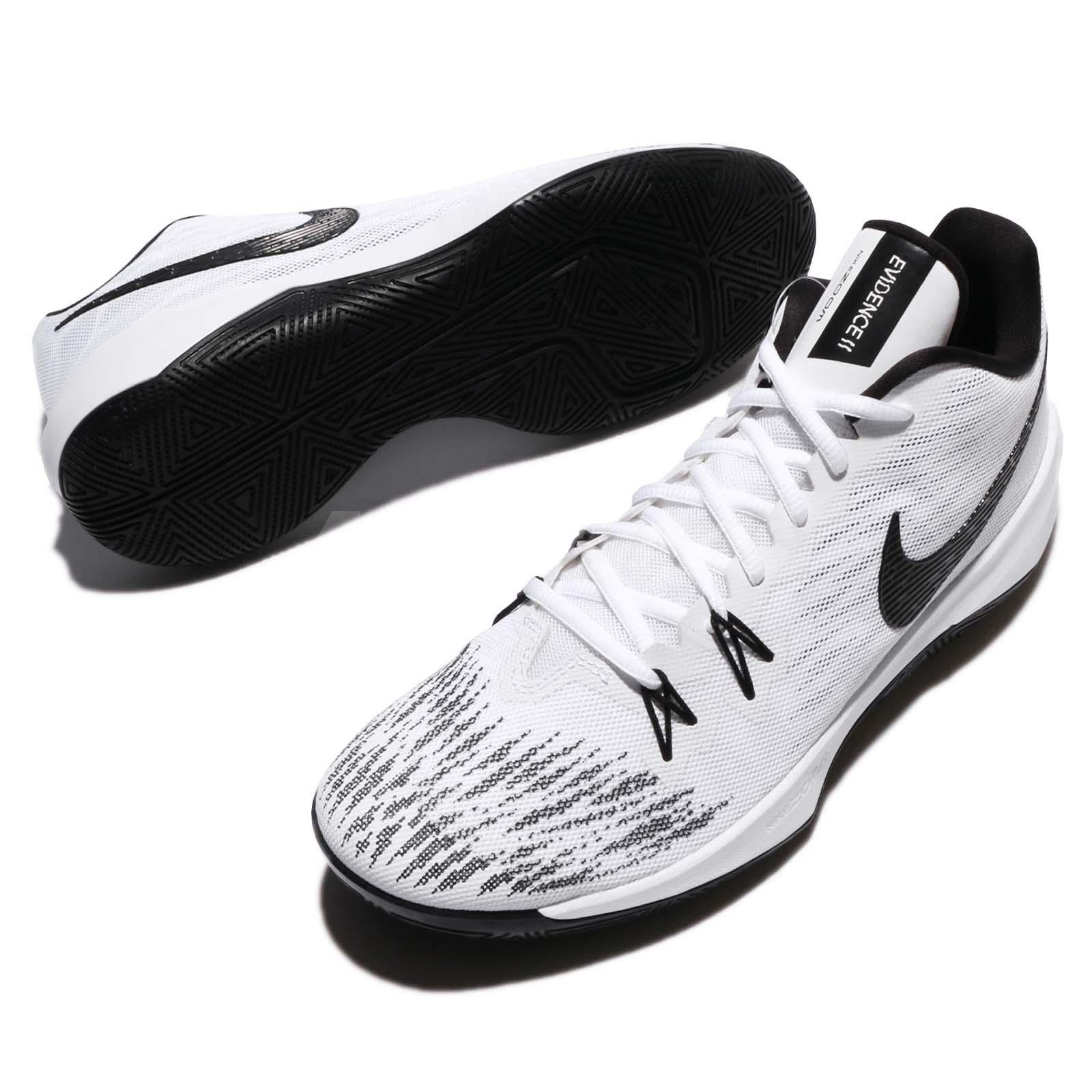 Nike Zoom Evidence II EP XDR White Black Men Basketball Shoes 908978 ... 88ca47677