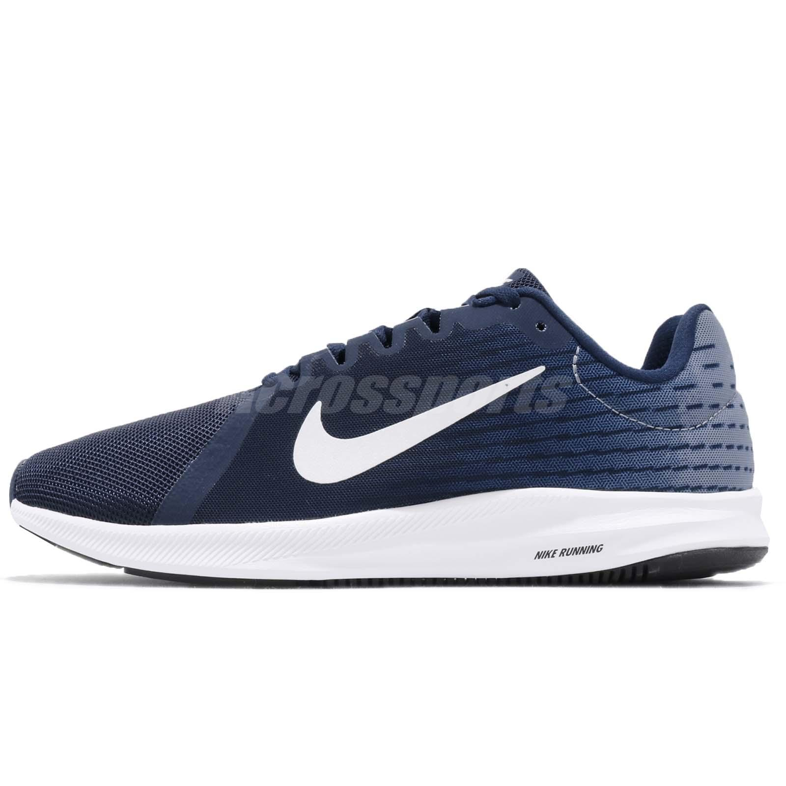 more photos 6e1c2 22849 Nike Downshifter 8 VIII Blue Void White Men Running Shoes Sneakers  908984-404