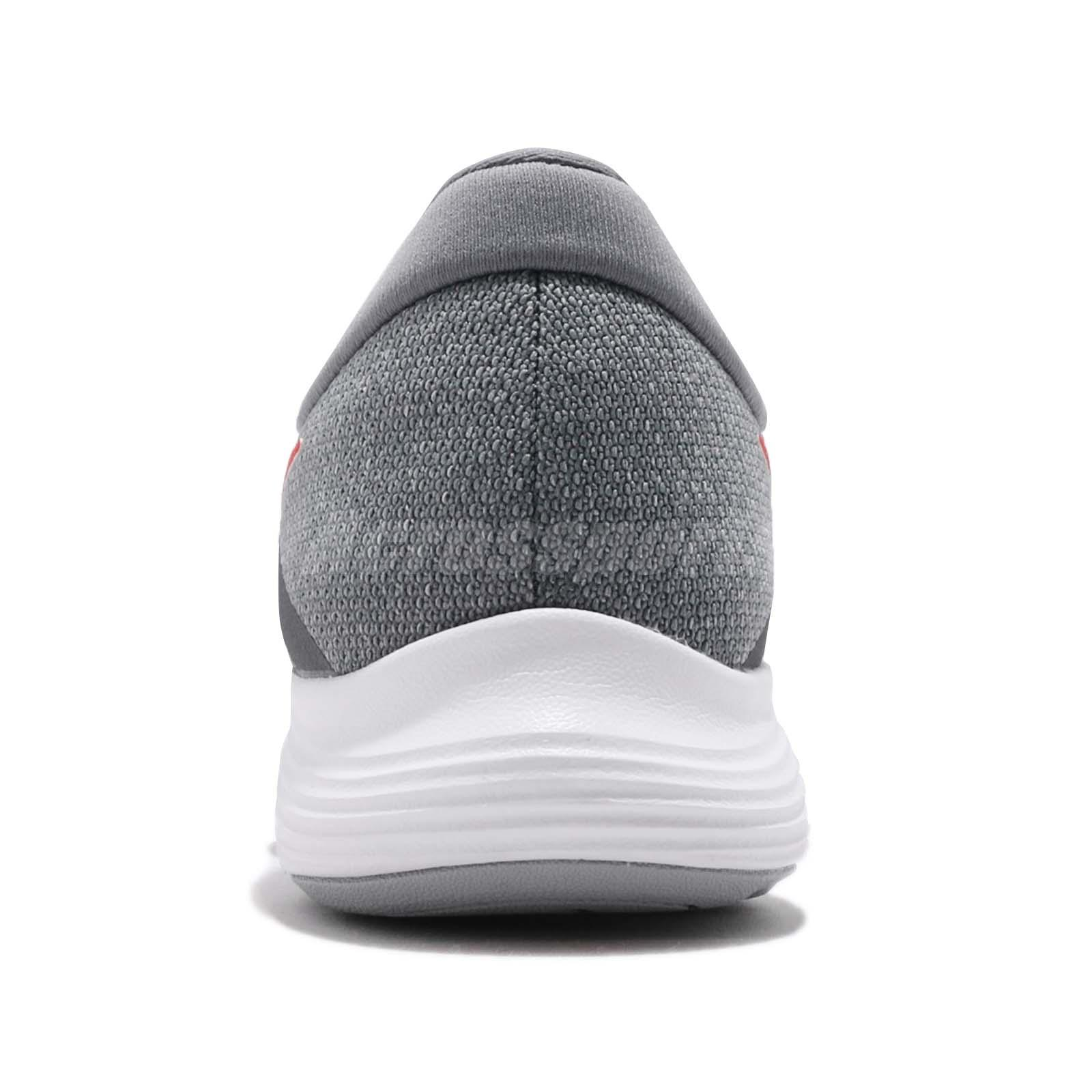 8693545bc3612 Nike Revolution 4 IV Grey Red White Men Running Shoes Sneakers ...