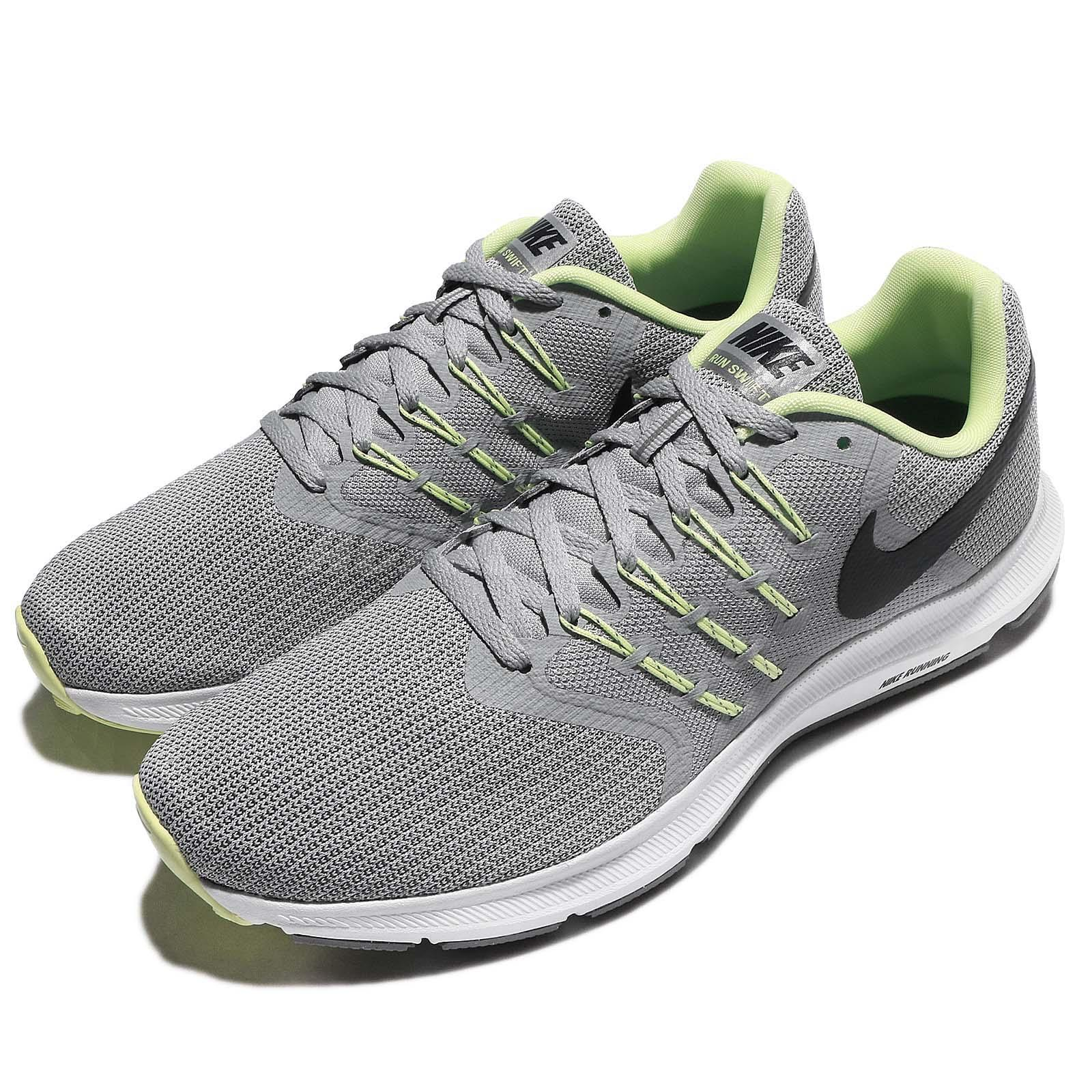 b9e382ea9048b Details about Nike Run Swift Wolf Grey Dark Obsidian Men Running Shoes  Sneakers 908989-008