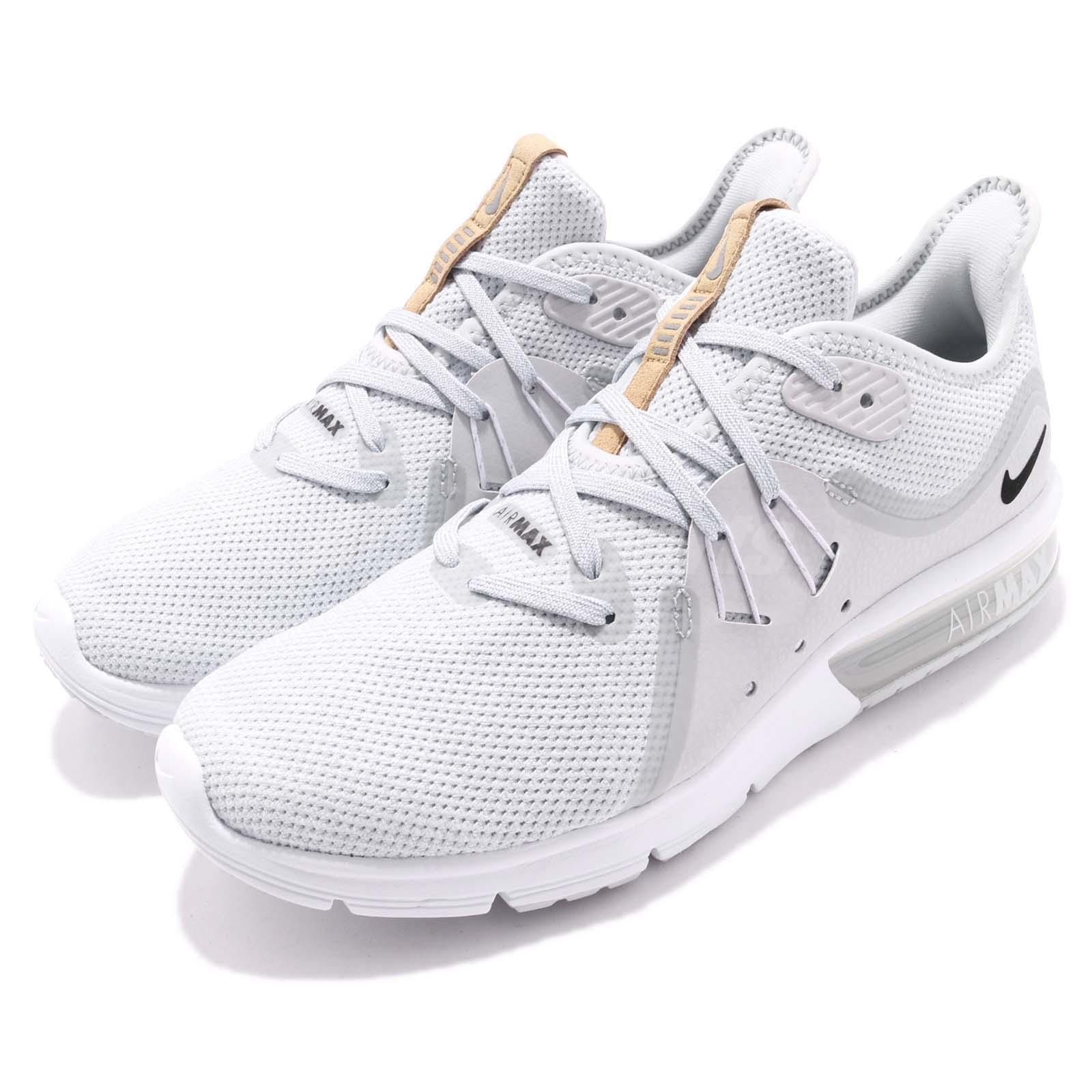 sports shoes e7b1c d8786 Details about Nike Wmns Air Max Sequent 3 III Pure Platinum White Women  Running 908993-008