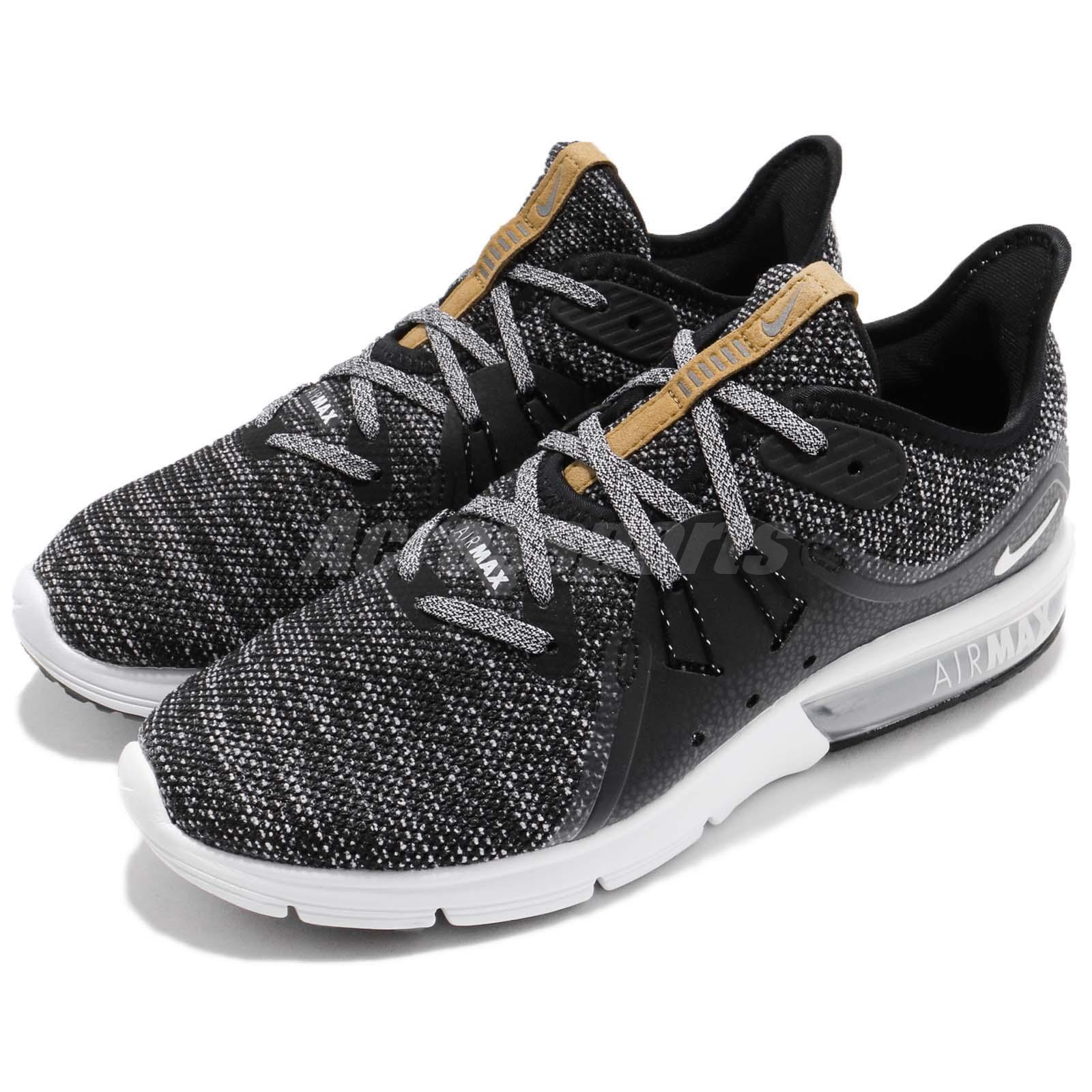5cb1a957a59 Details about Wmns Nike Air Max Sequent 3 III Black Grey Women Running Shoe  Sneaker 908993-011