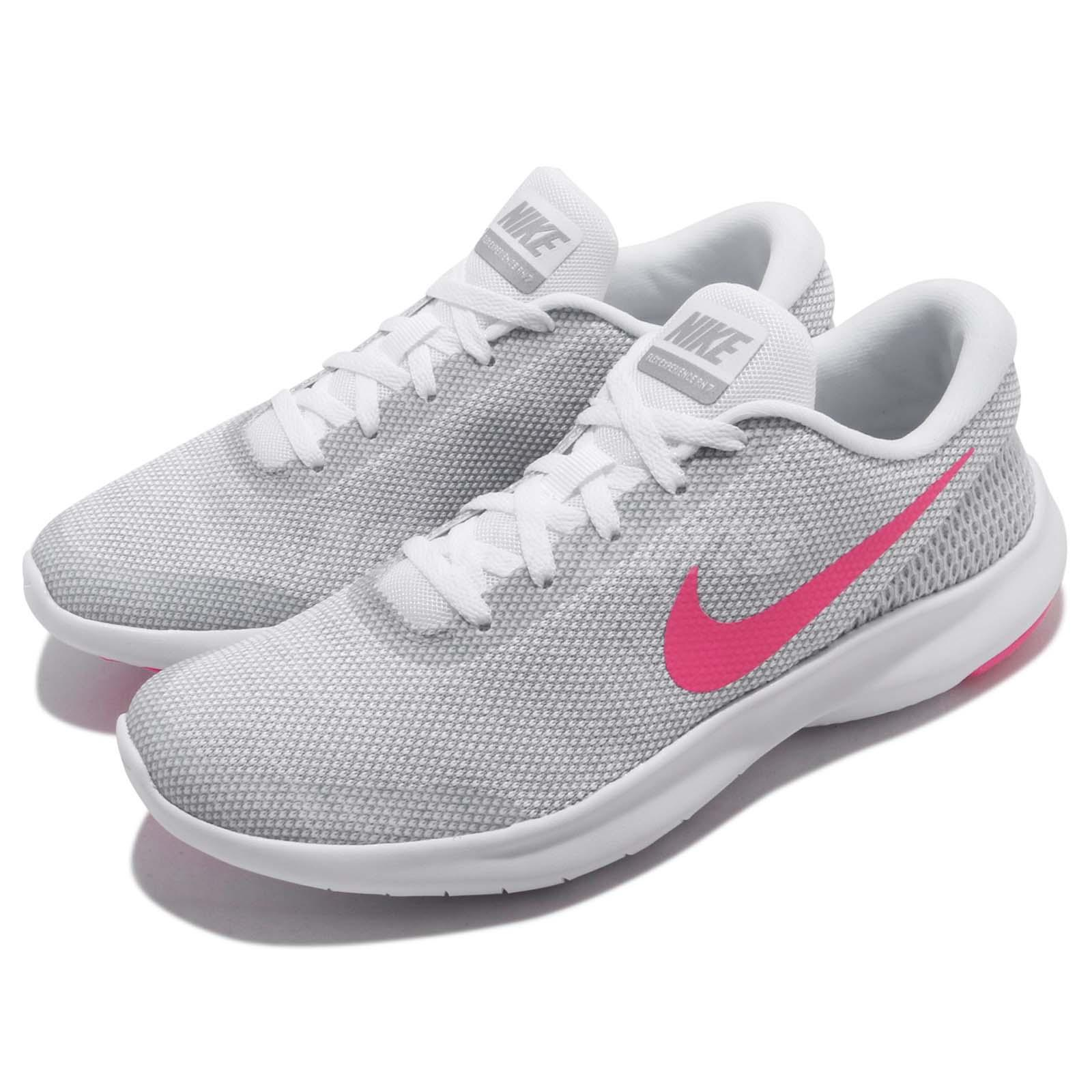 Nike Wmns Flex Experience RN 7 VII White Pink Women Running Shoes 908996-101
