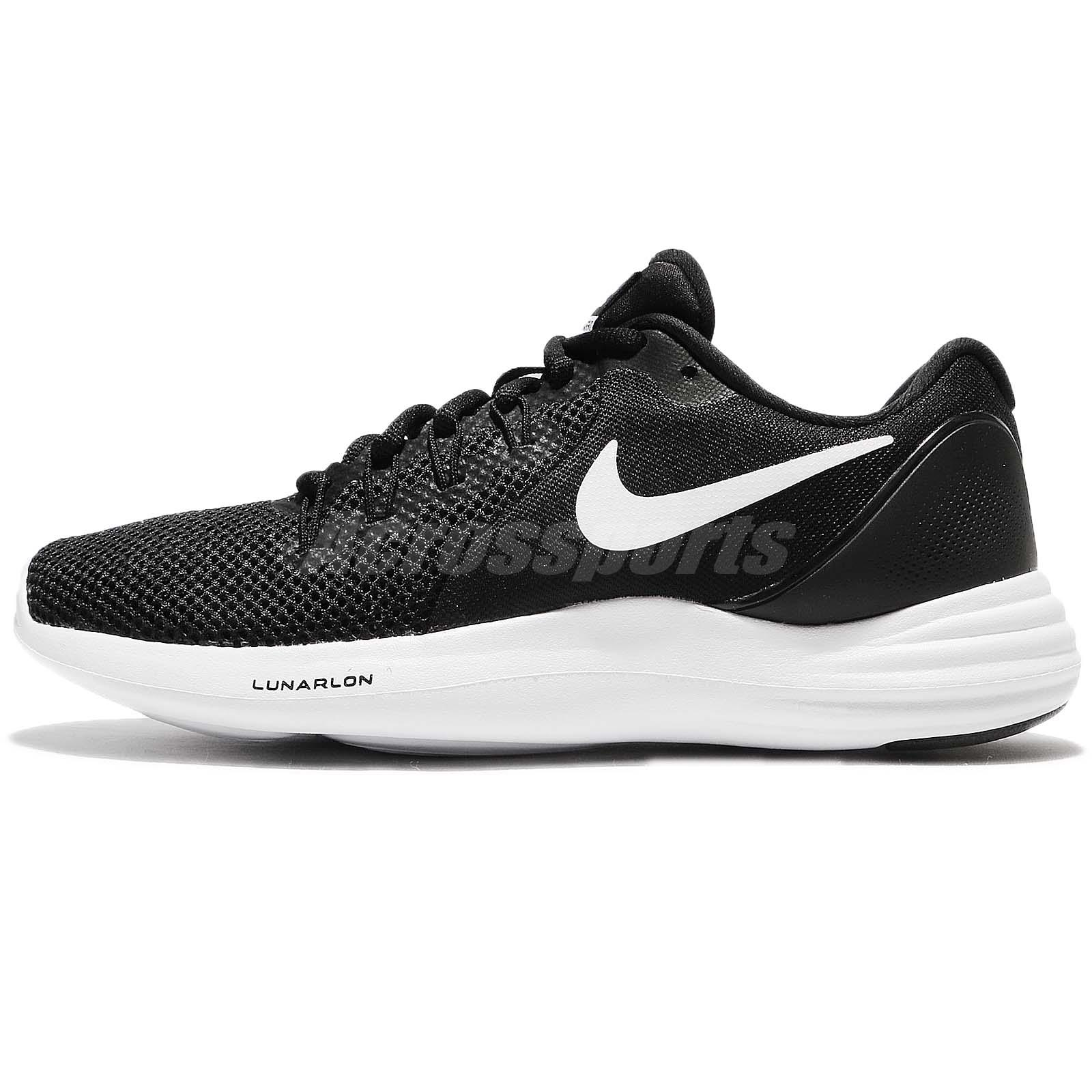 online store c2a36 09a1c Wmns Nike Lunar Apparent Black White Cool Grey Women Running Shoes  908998-001