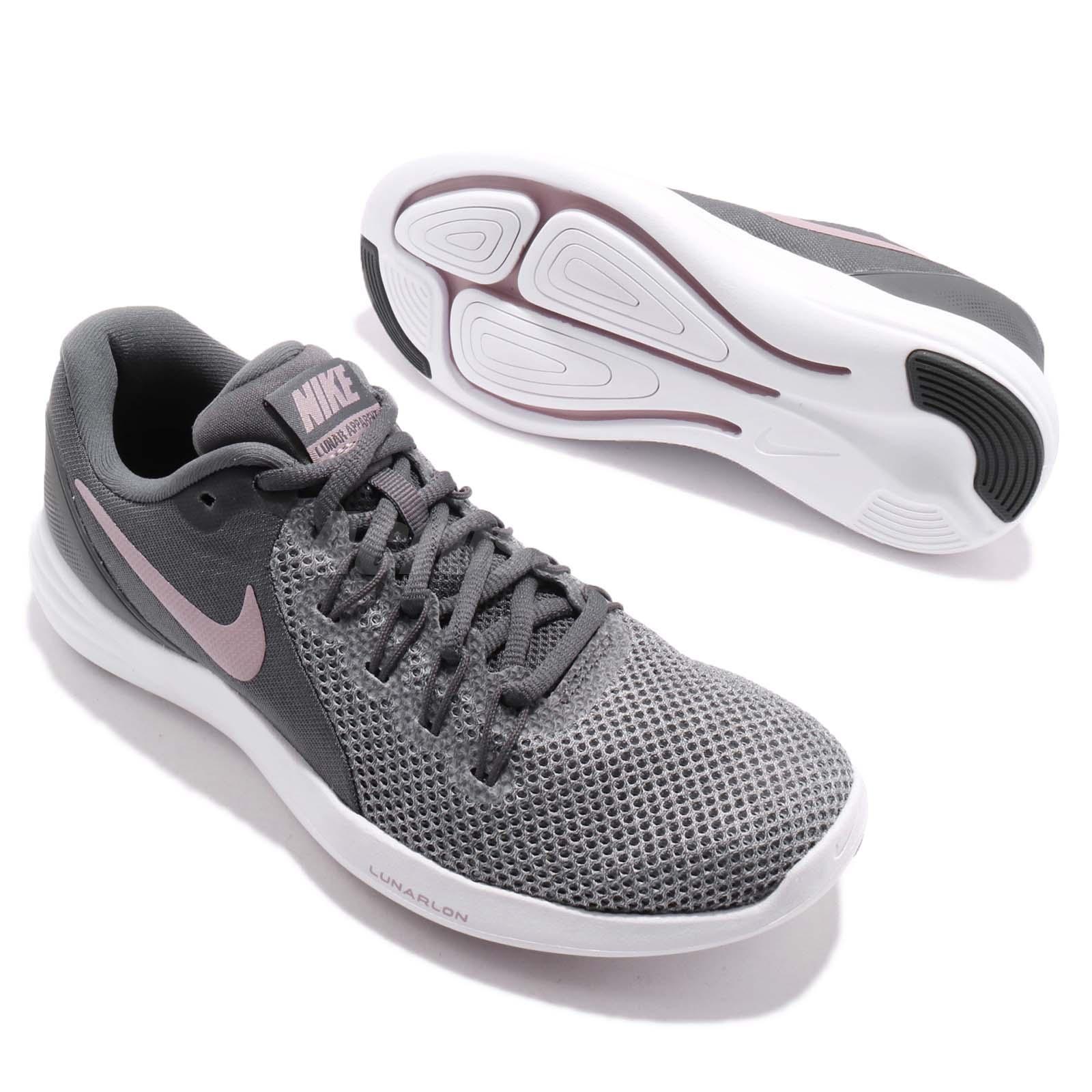 11ecdde7939b Wmns Nike Lunar Apparent Dark Grey Elemental Rose Women Running ...
