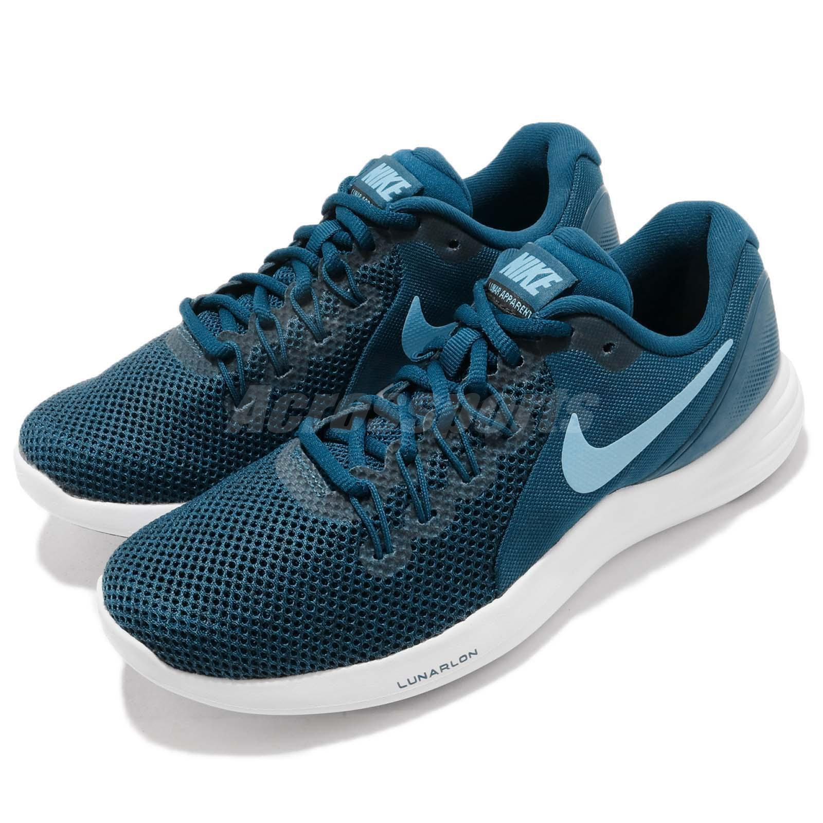 brand new bef6e b19cf Details about Nike Wmns Lunar Apparent Blue White Women Running Shoes  Sneakers 908998-404