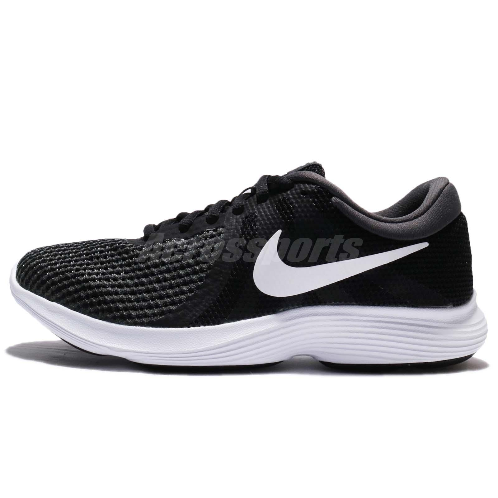 13e50e4566b9 Nike Wmns Revolution 4 IV Black White Women Running Shoes Sneakers 908999- 001