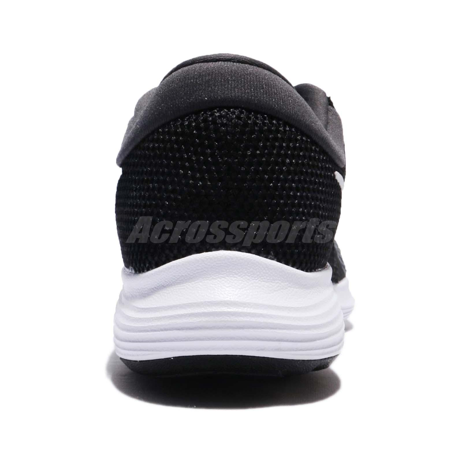 7f20b73e7c2e Nike Wmns Revolution 4 IV Black White Women Running Shoes Sneakers ...