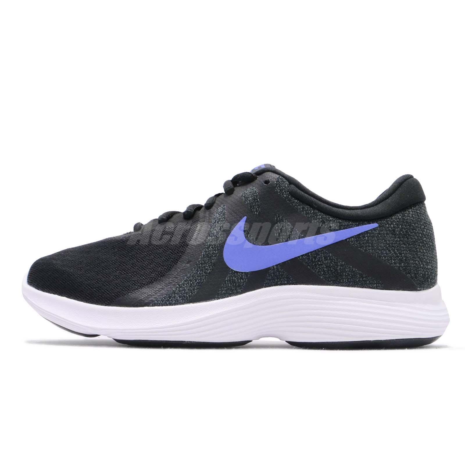 b12423ef621c Nike Wmns Revolution 4 Black Sapphire White Women Running Shoes 908999-014