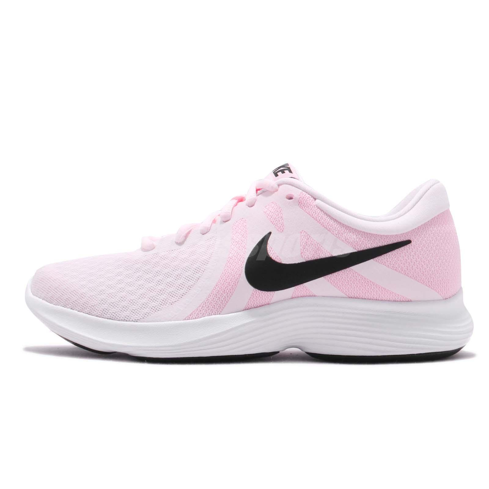 466674e5a5525 Nike Wmns Revolution 4 Pale Pink Black Womens Running Shoes Runner  908999-604