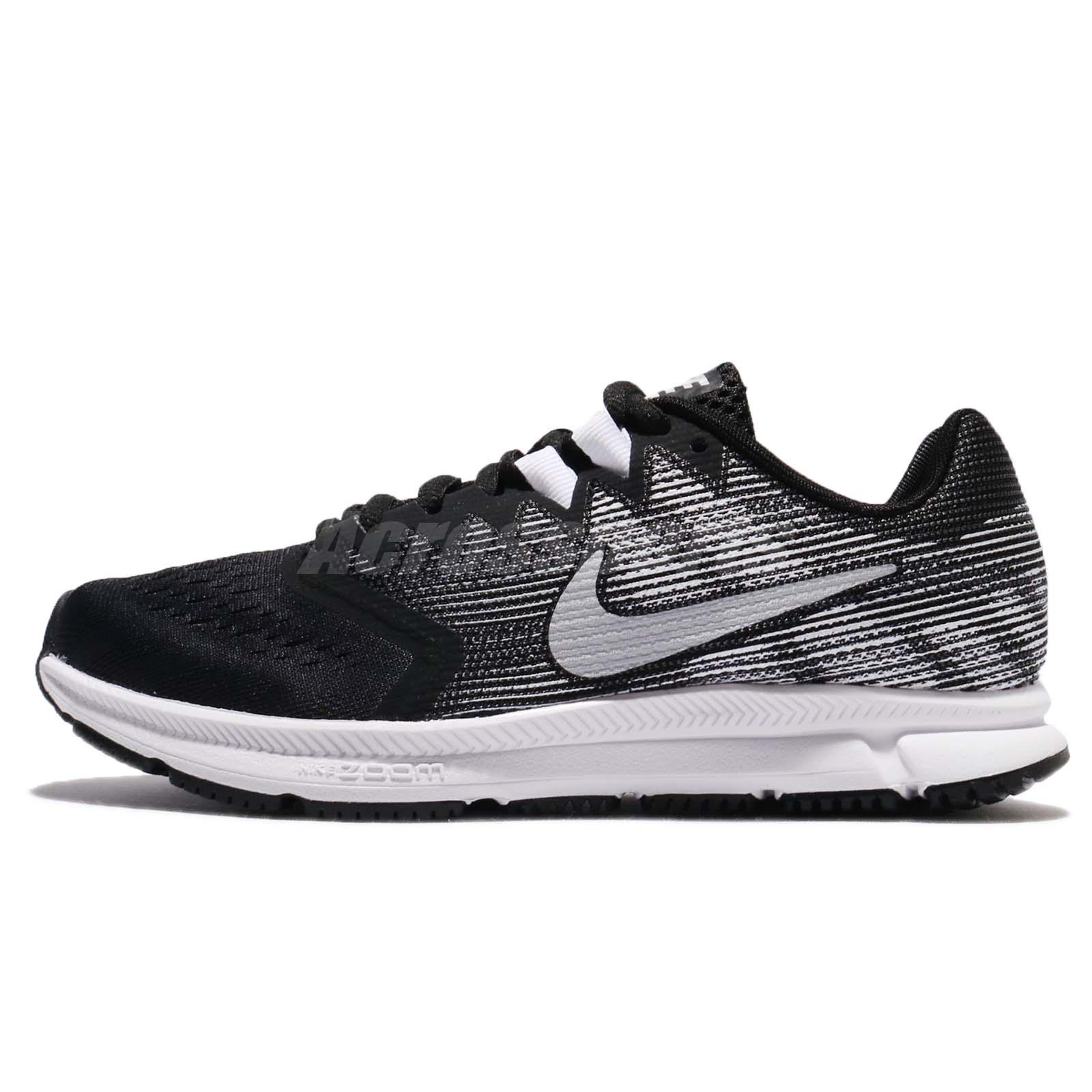 35c10006964a Wmns Nike Zoom Span 2 II Black Metallic Silver Women Running Shoes 909007- 001