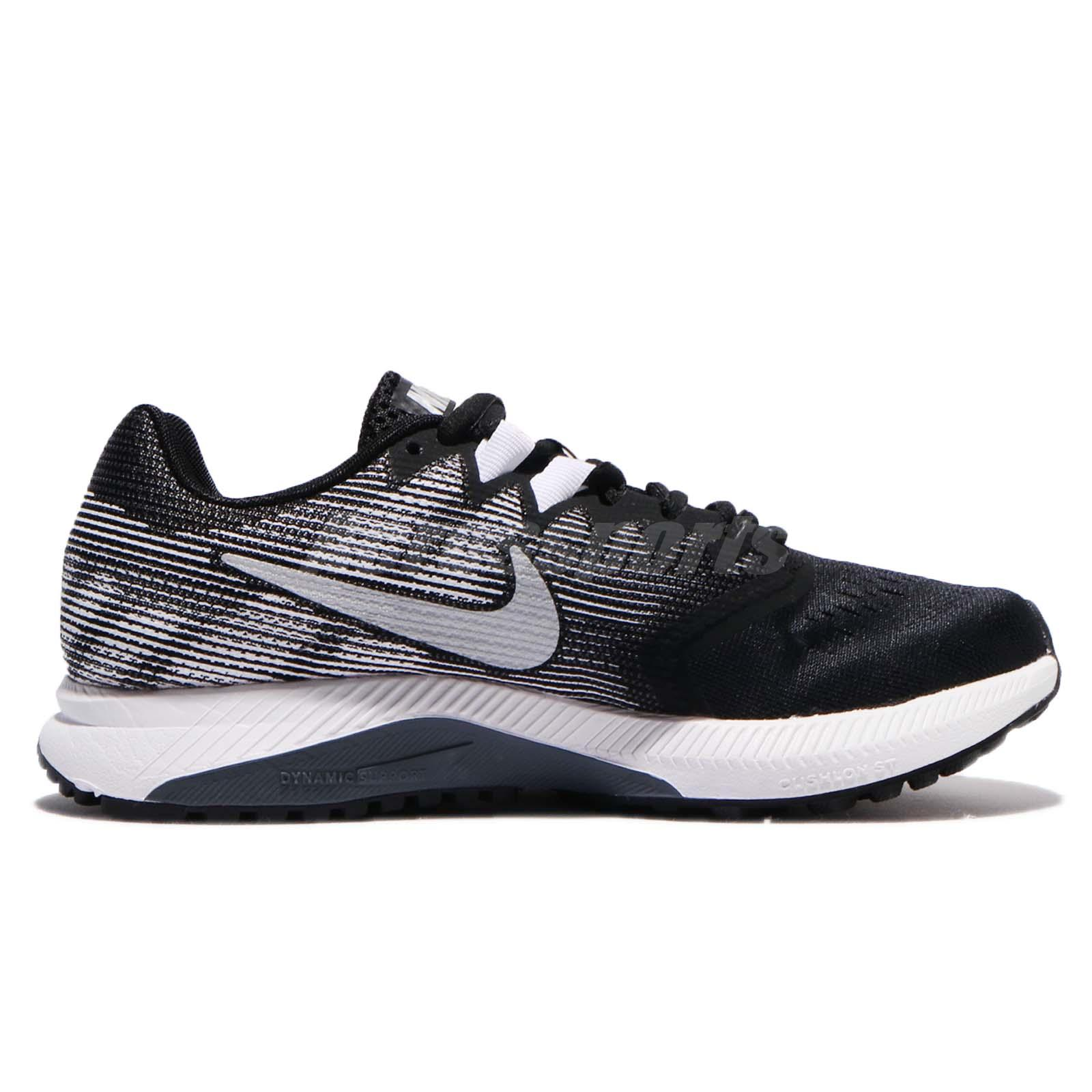 c80fb862c07d Wmns Nike Zoom Span 2 II Black Metallic Silver Women Running Shoes ...