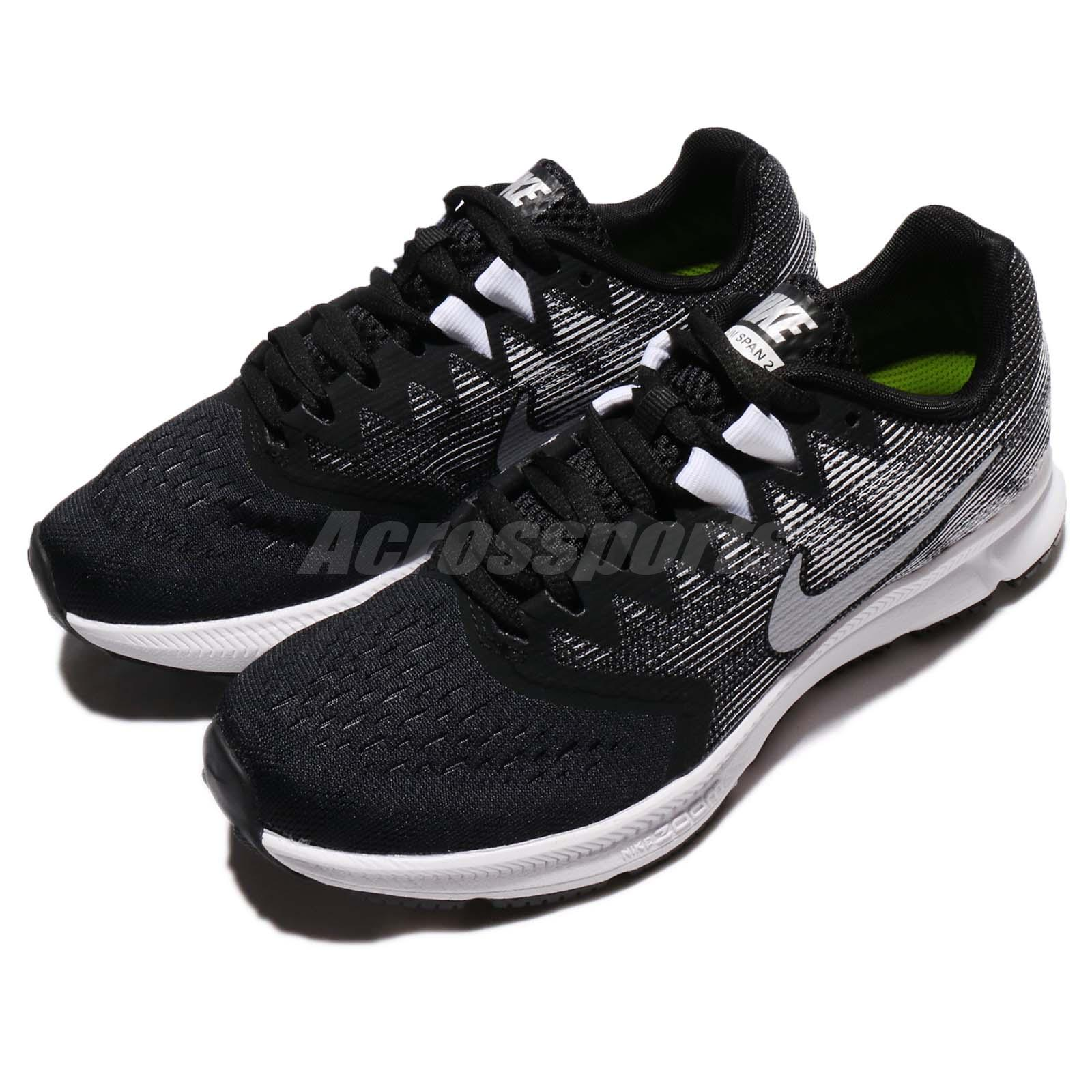 a70cd4325beb2 Wmns Nike Zoom Span 2 II Black Metallic Silver Women Running Shoes ...