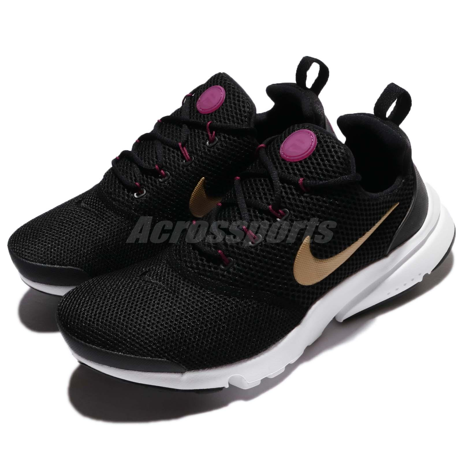 bcb6d99f178 Details about Nike Presto Fly GS Black Metallic Gold White Kid Youth Women  Shoes 913967-004