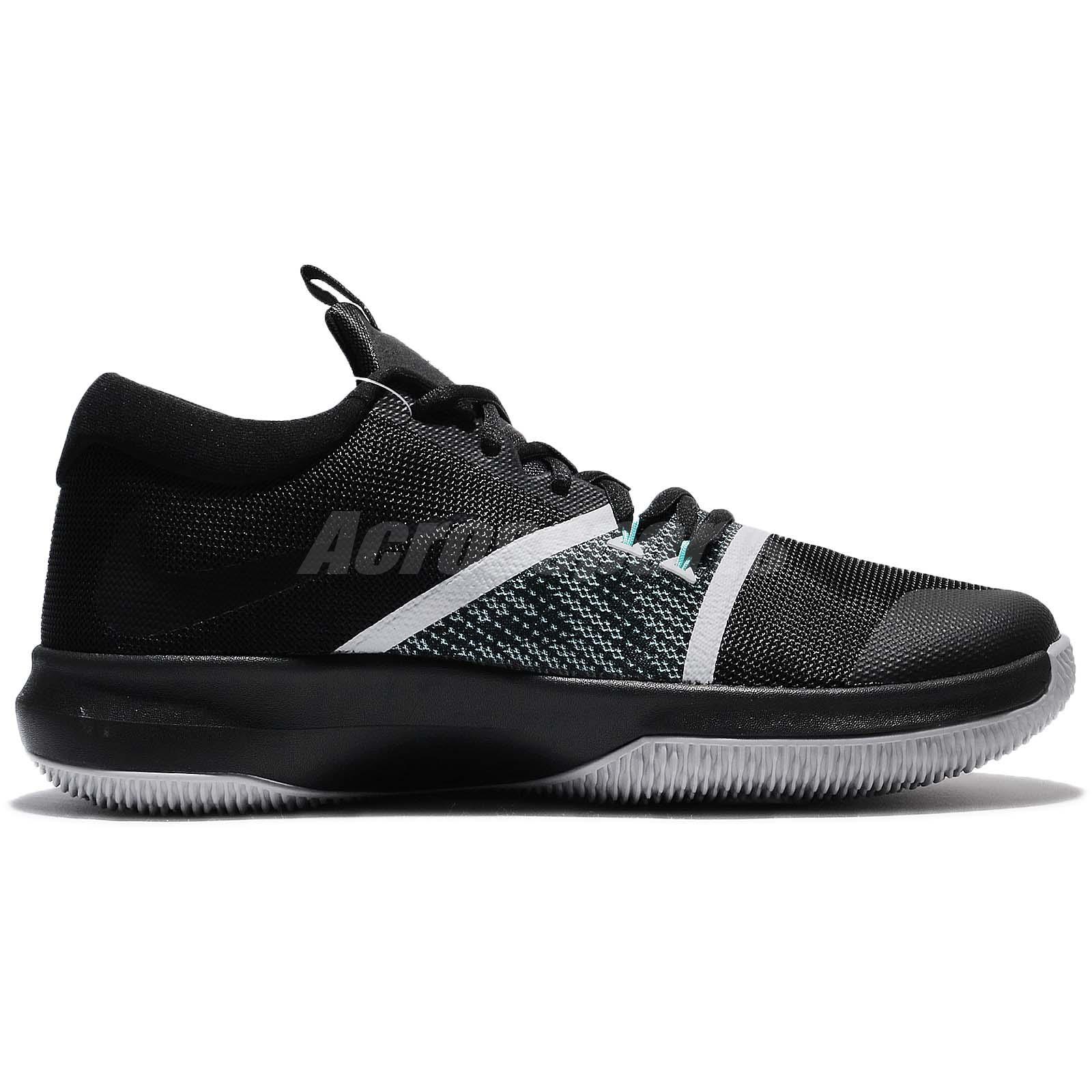 f0ac45eb4120 Nike Zoom Assersion EP XDR Air Black White Grey Men Basketball Shoes ...