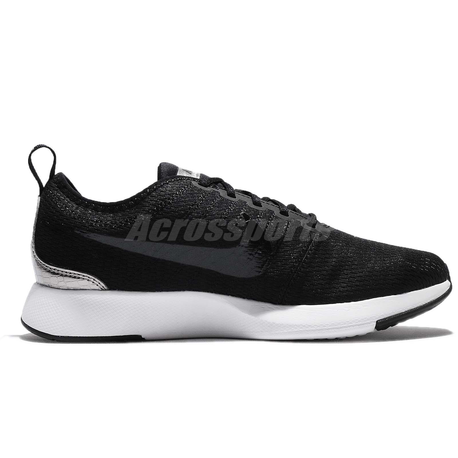 Nike Dualtone Racer GS Black Pewter White Womens Kids Running Shoes ... 546a5b8d6eb99