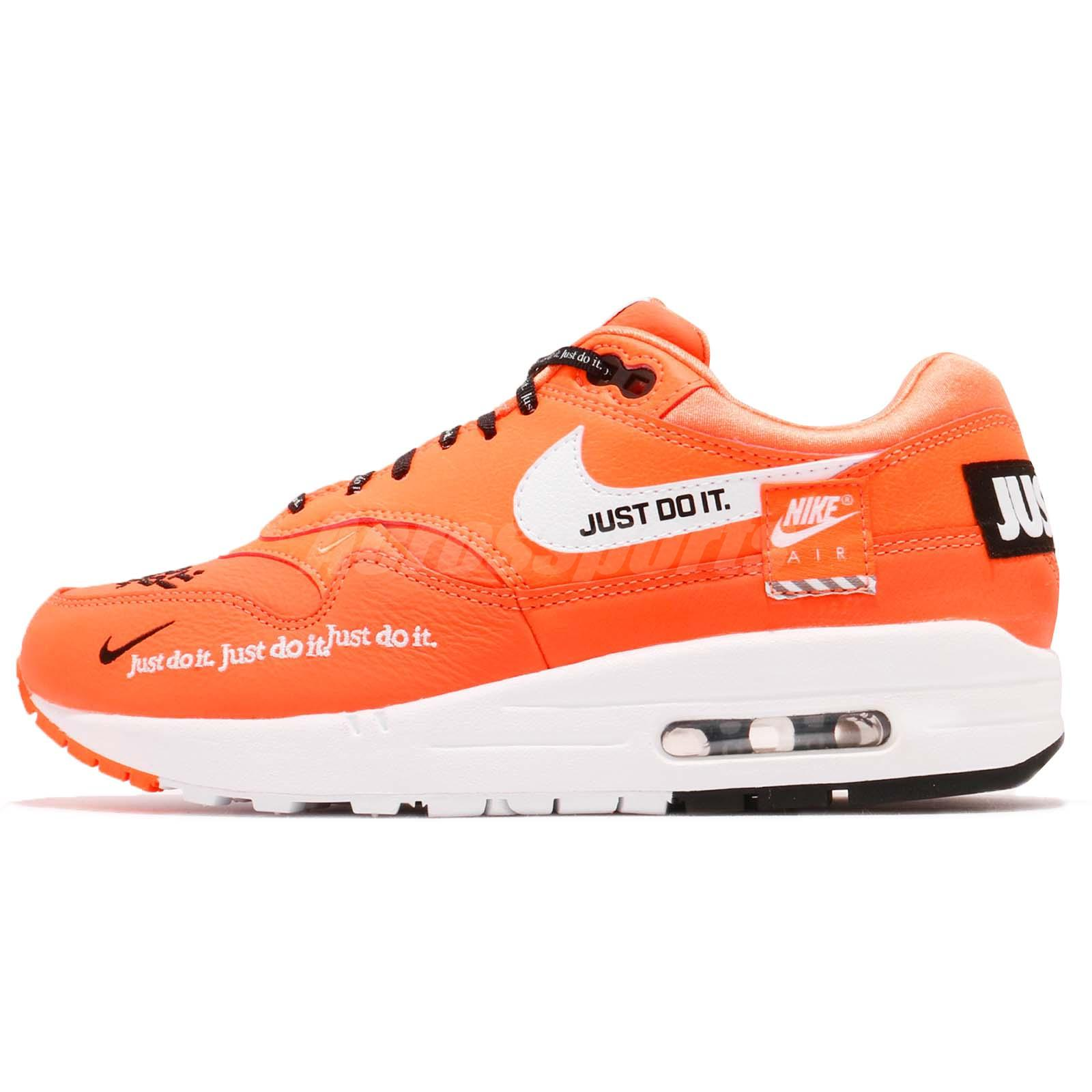 Nike Wmns Air Max 1 LX Orange Black Just Do It Pack Womens Shoes JDI  917691-800 2cc4d4979