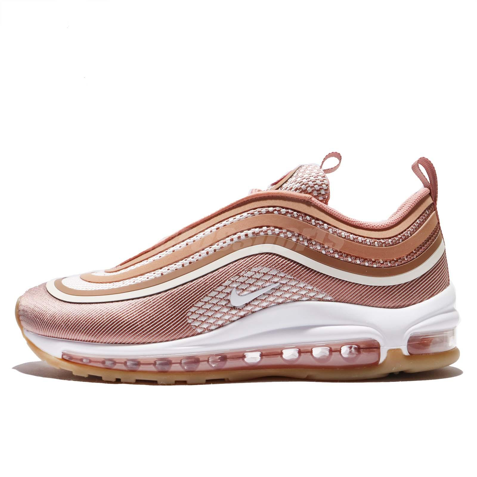 Wmns Nike Air Max 97 UL 17 Ultra Metallic Rose Gold Gum Women Shoes  917704-600