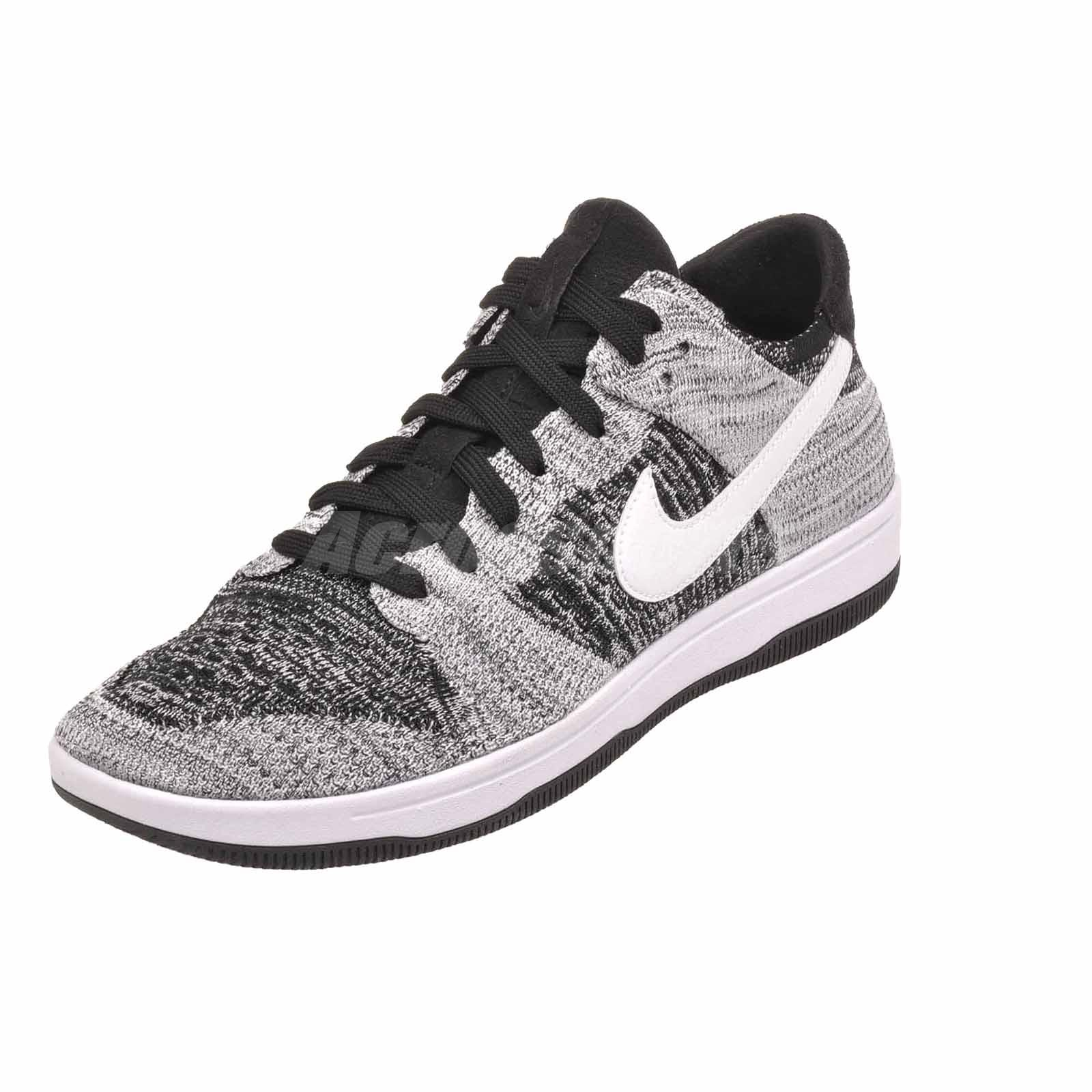 790dde8eb963 Nike Dunk Flyknit Casual Mens Shoes Black White NWOB 917746-003