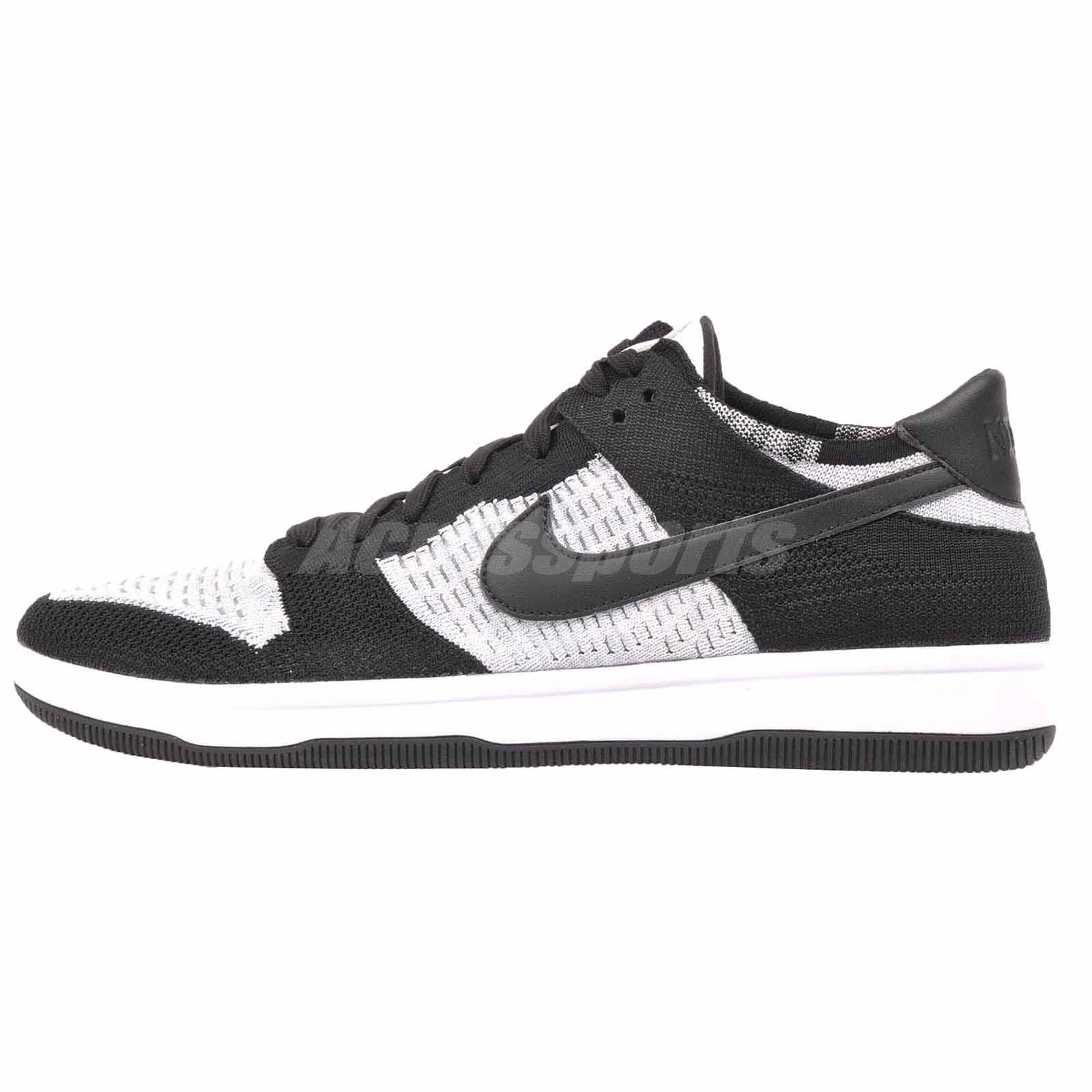 les hommes flyknit chaussures nike dunk blanc et noir gre gre gre b0495d