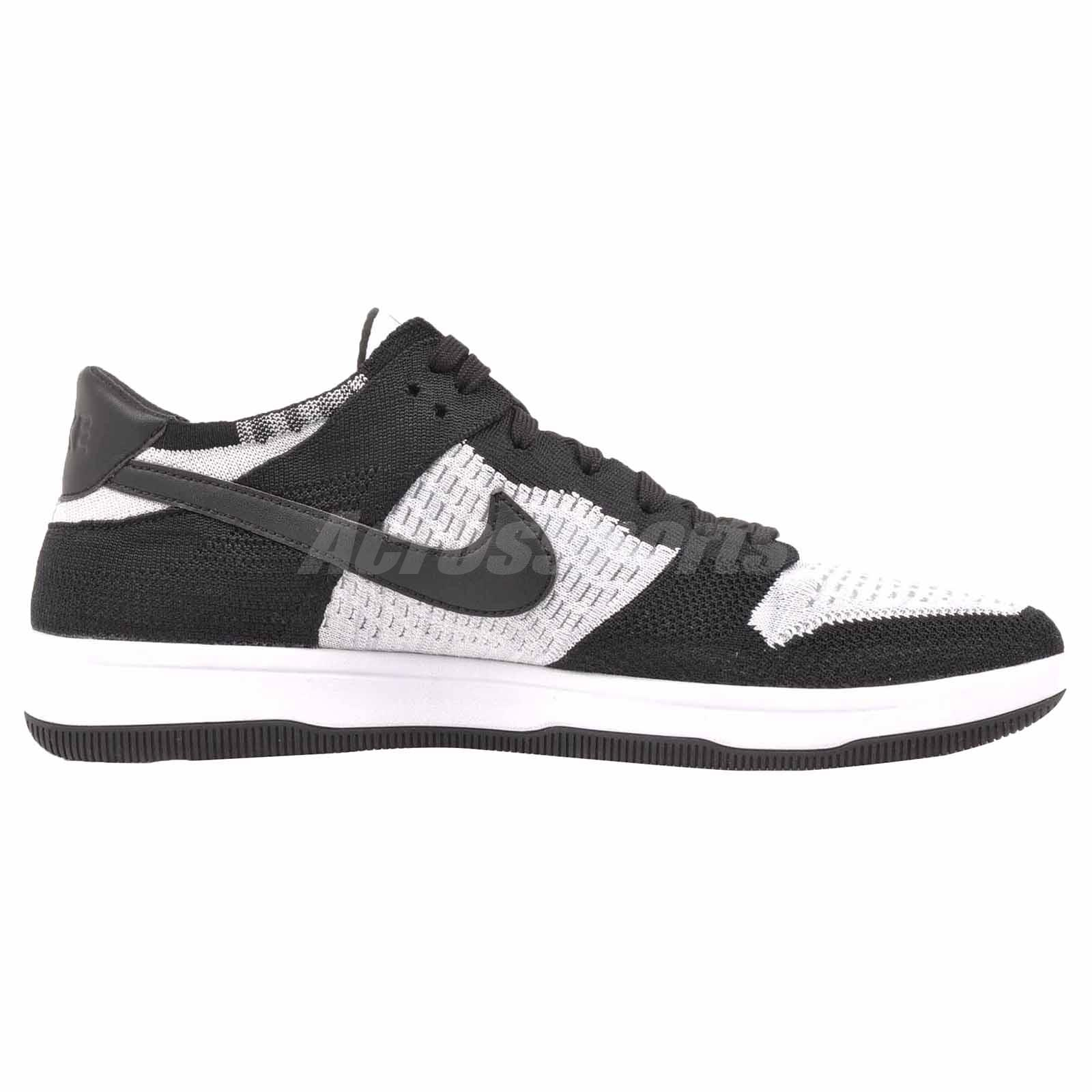 9c13c0636d5b Nike Dunk Flyknit Casual Mens Shoes White Black Grey 917746-100