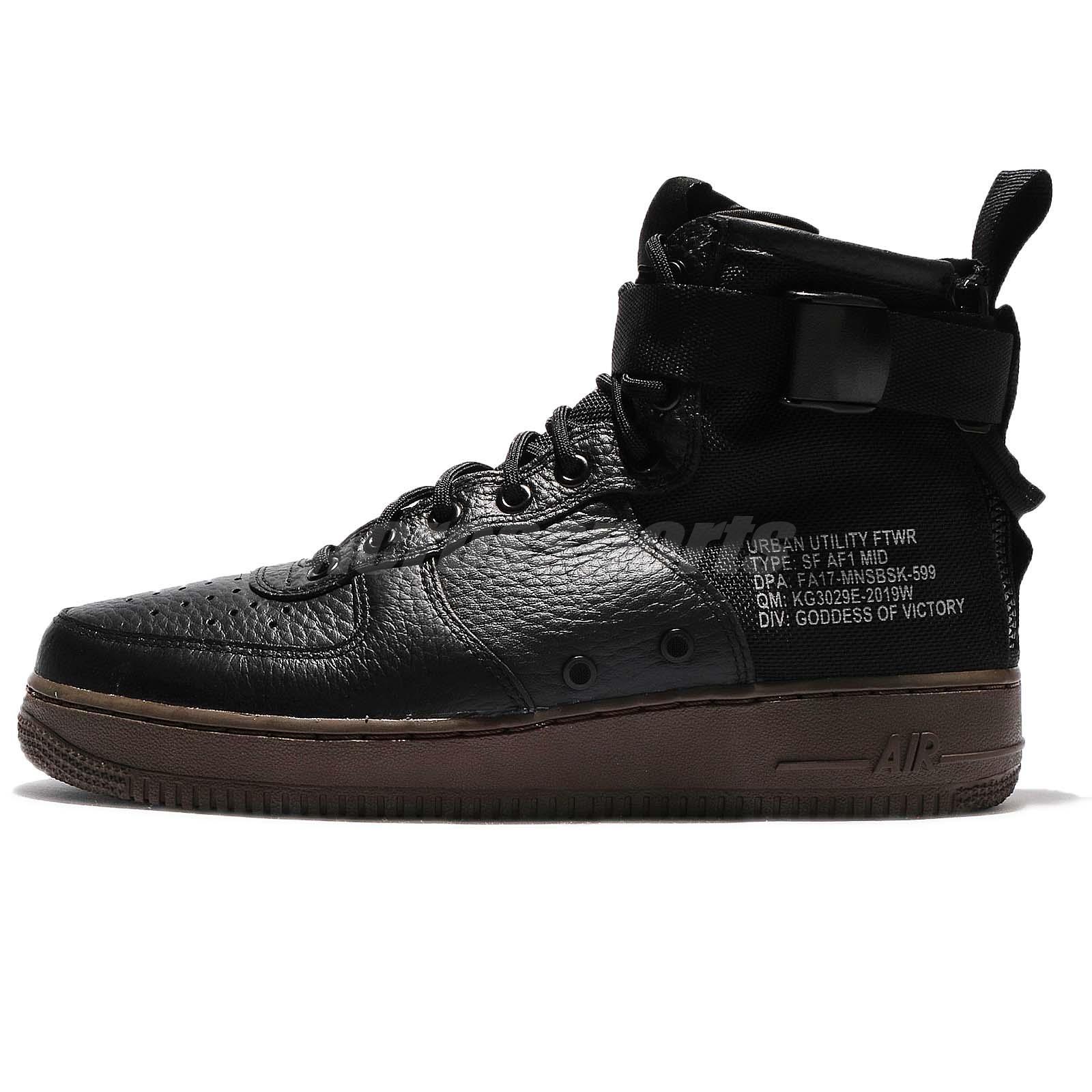 Nike SF AF1 Mid Special Field Air Force 1 Zip Black Dark Hazel Men