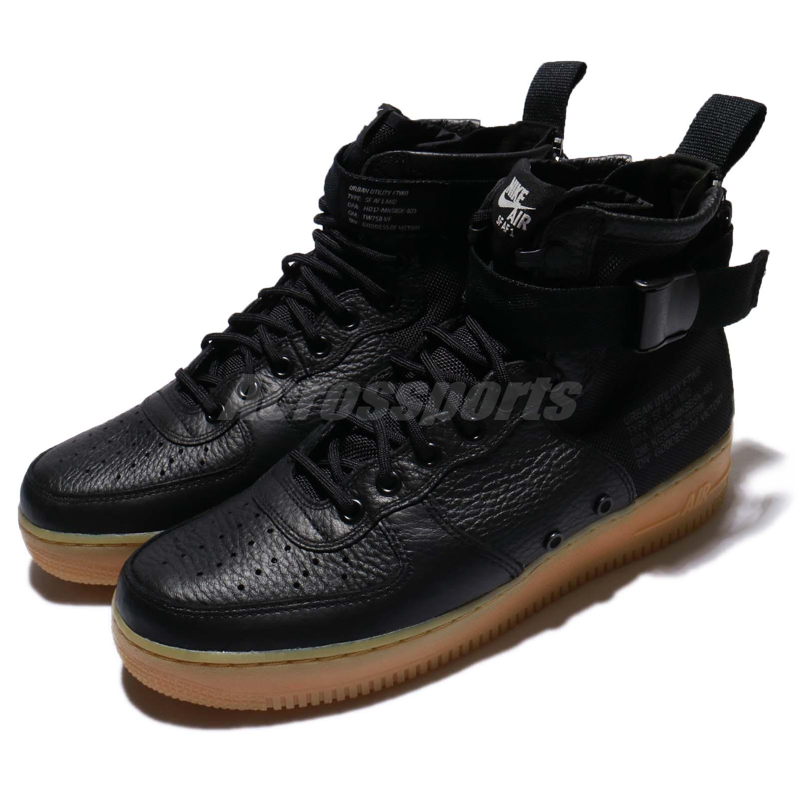 ab5456794b9e Details about Nike SF AF1 Mid Special Field Black Gum Light Brown Men Air  Force 1 917753-003