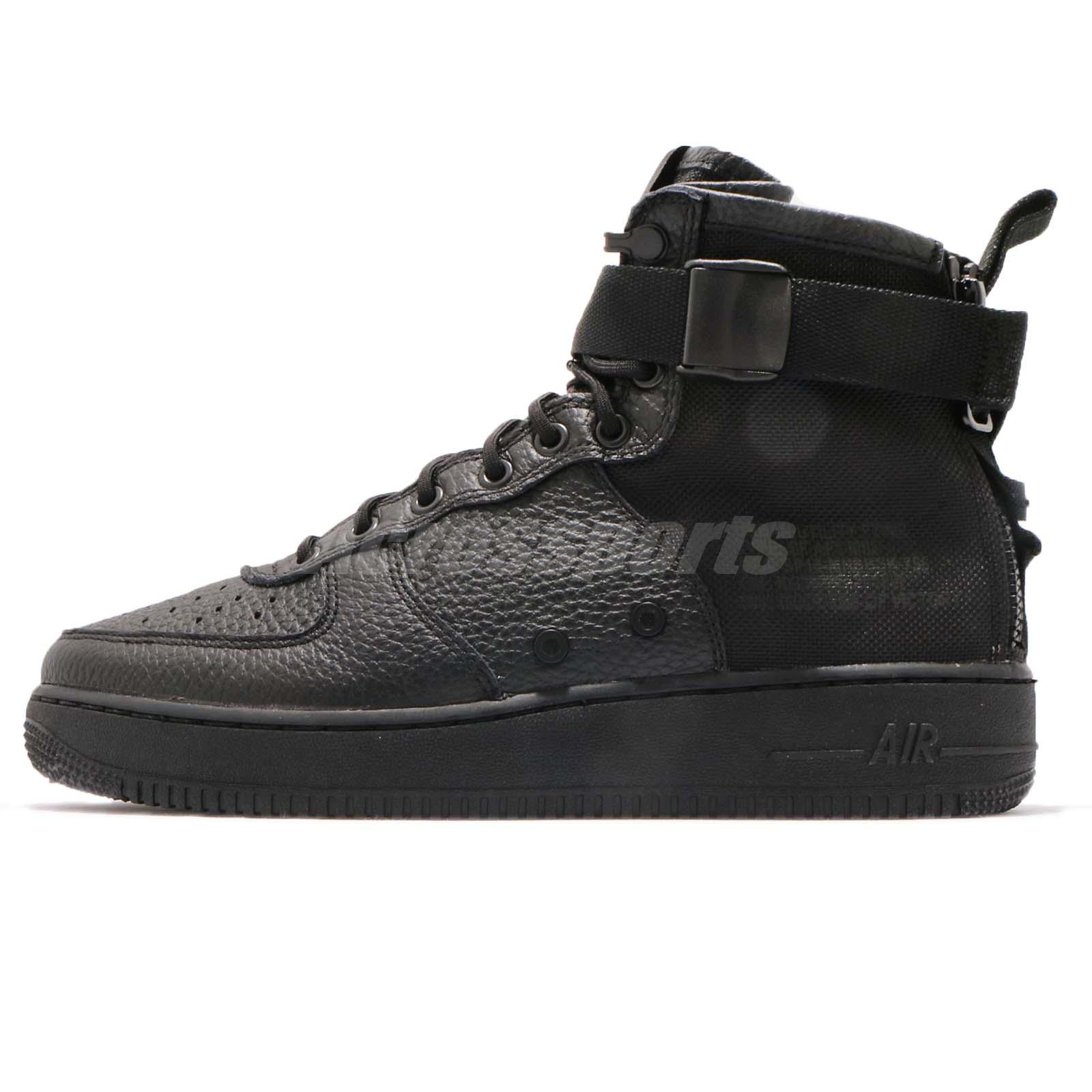 sports shoes 4f51b f4587 Nike SF AF1 Mid Triple Black Men Lifestyle Casual Shoes Sneakers 917753-005