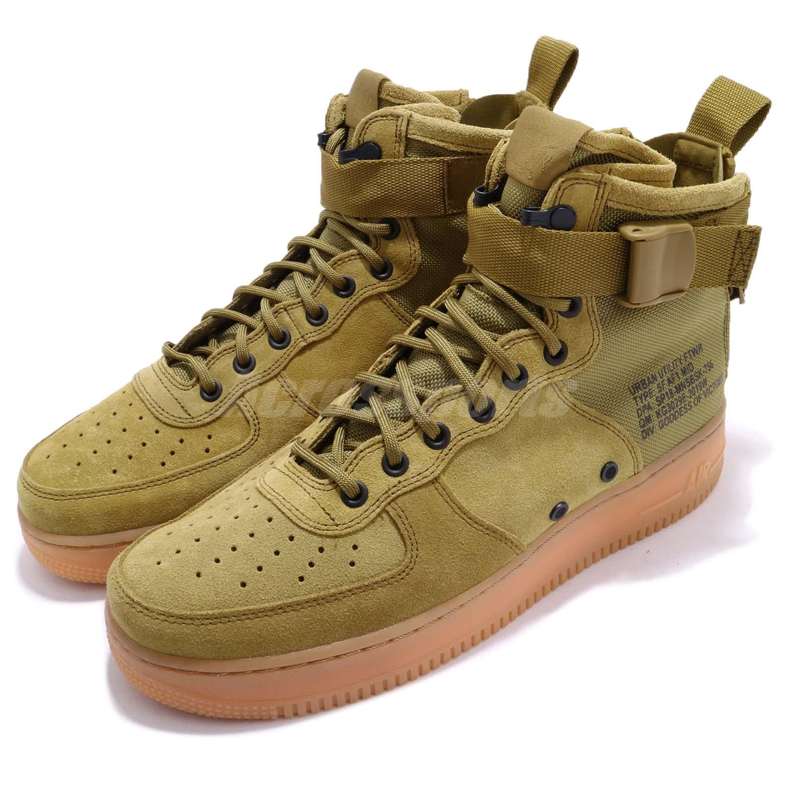Details about Nike SF AF1 Mid Special Field Air Force 1 Desert Moss Green Men Shoes 917753 301