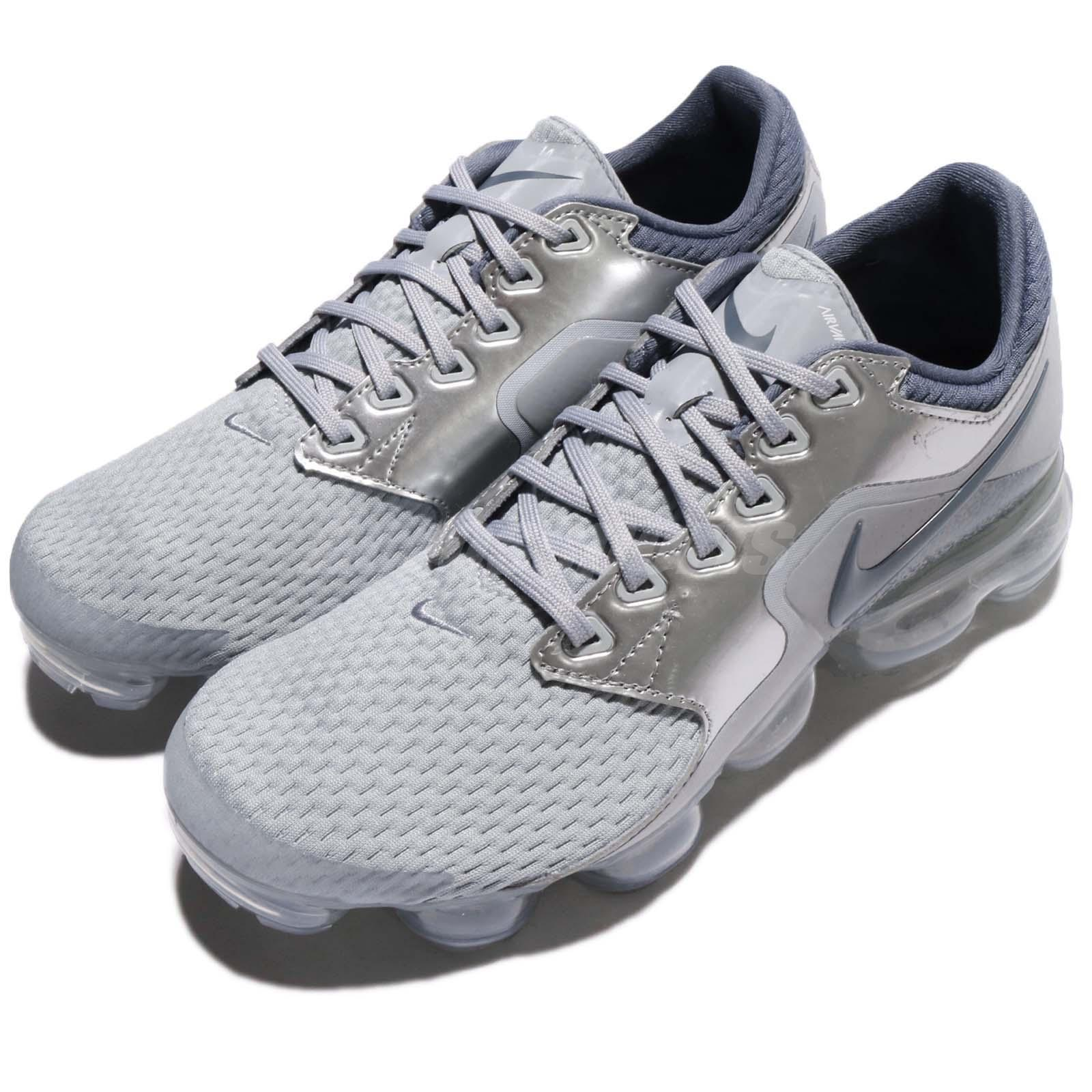 buy popular 89568 b40a7 Details about Nike Air Vapormax GS Wolf Grey Light Carbon Kids Women  Running Shoes 917963-006