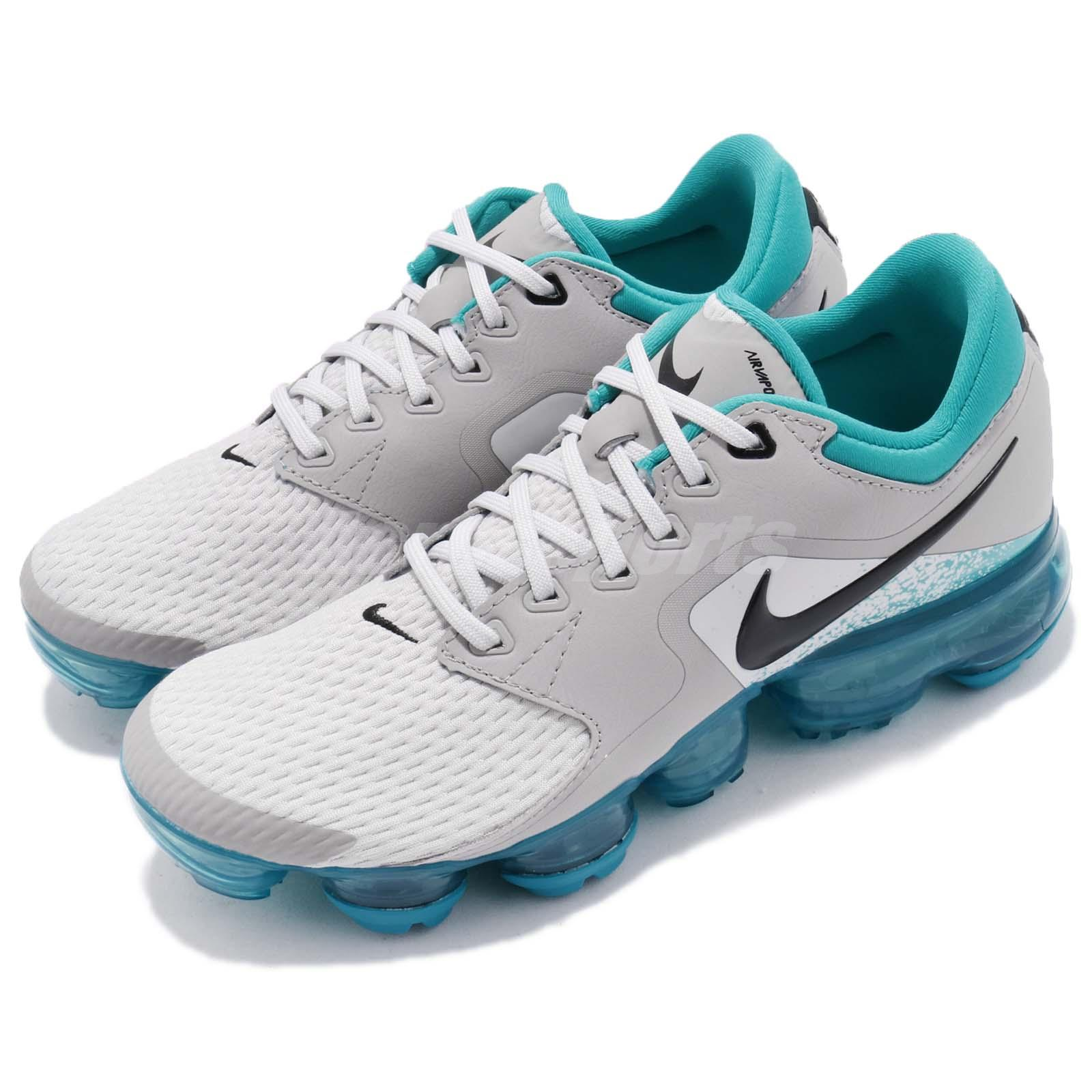official photos e7fc0 f5bb6 Details about Nike Air Vapormax GS Vast Grey Blue Black Kids Women Running  Shoes 917963-011