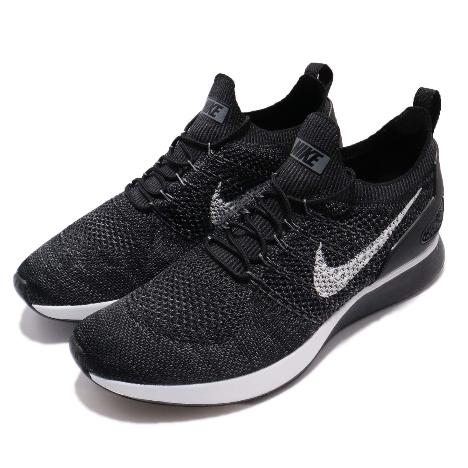 7eabbba58477 Details about Nike Air Zoom Mariah Flyknit Racer Black Pure Platinum Men  Running 918264-010