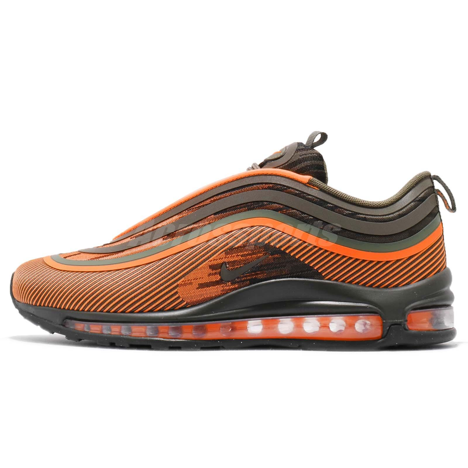 1bd61f46ae Nike Air Max 97 UL 17 Total Orange Olive Green Mens Running Shoes 918356-801