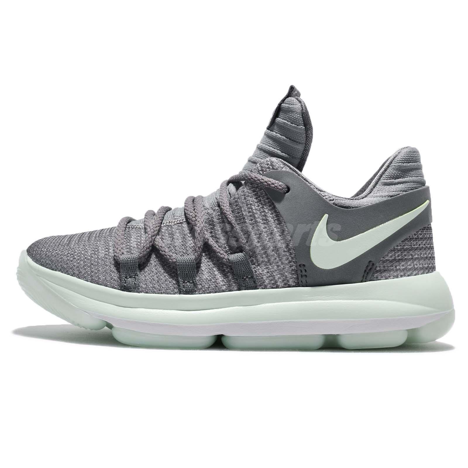 hot sale online 57699 f8eec Nike KD10 PS KDX Durant Cool Grey Igloo Preschool Boys Basketball 918364-002
