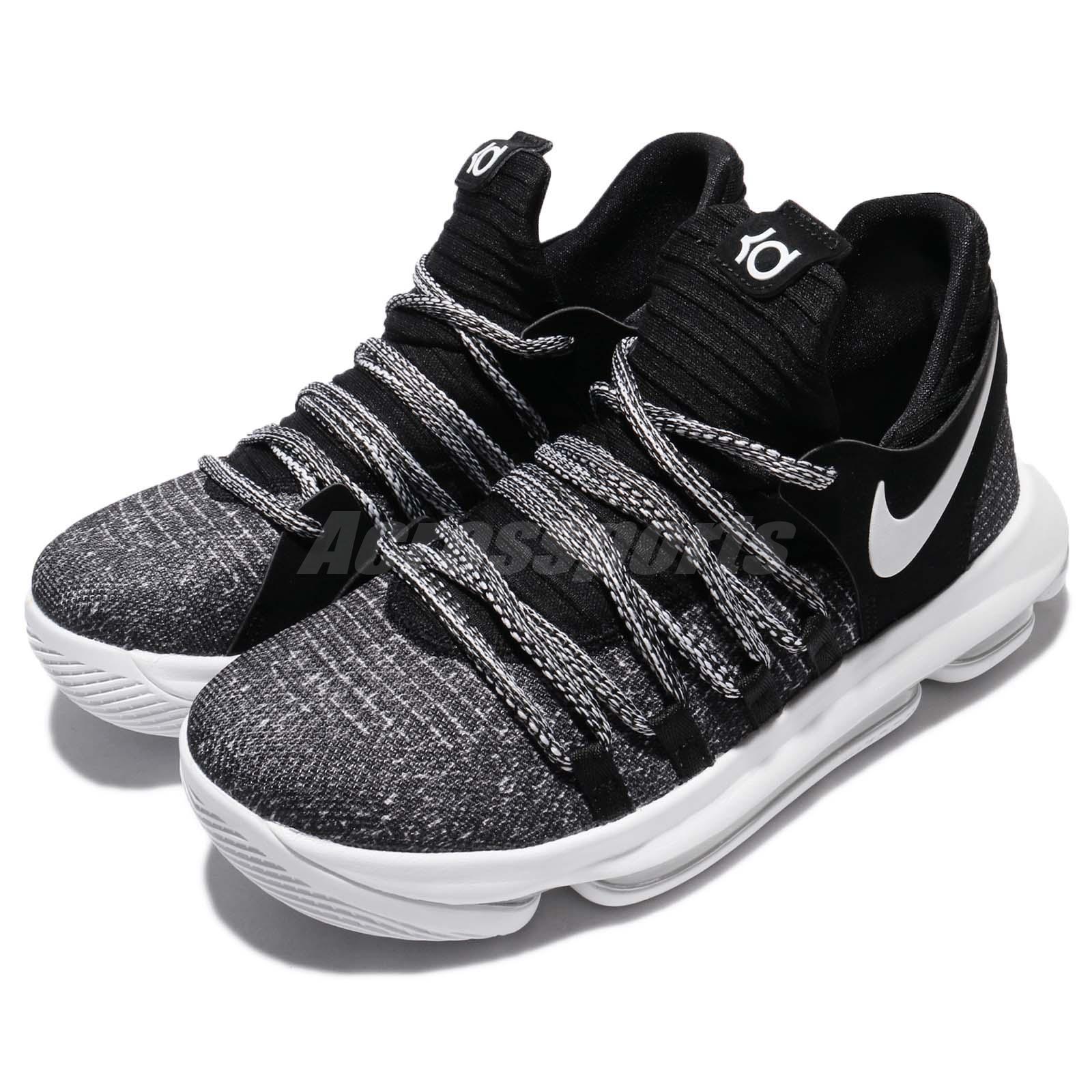 sale retailer 00cb6 b618d Nike Zoom KD10 GS X Oreo Black KDX Kevin Durant Men Basketba