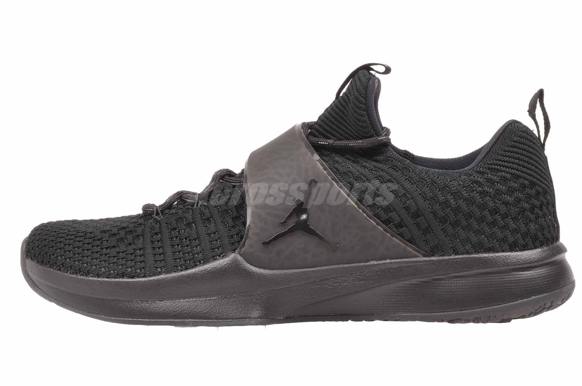 Nike Jordan Trainer 2 Flyknit Cross Training Mens Shoes Air Black 921210-013 1000ec3b670