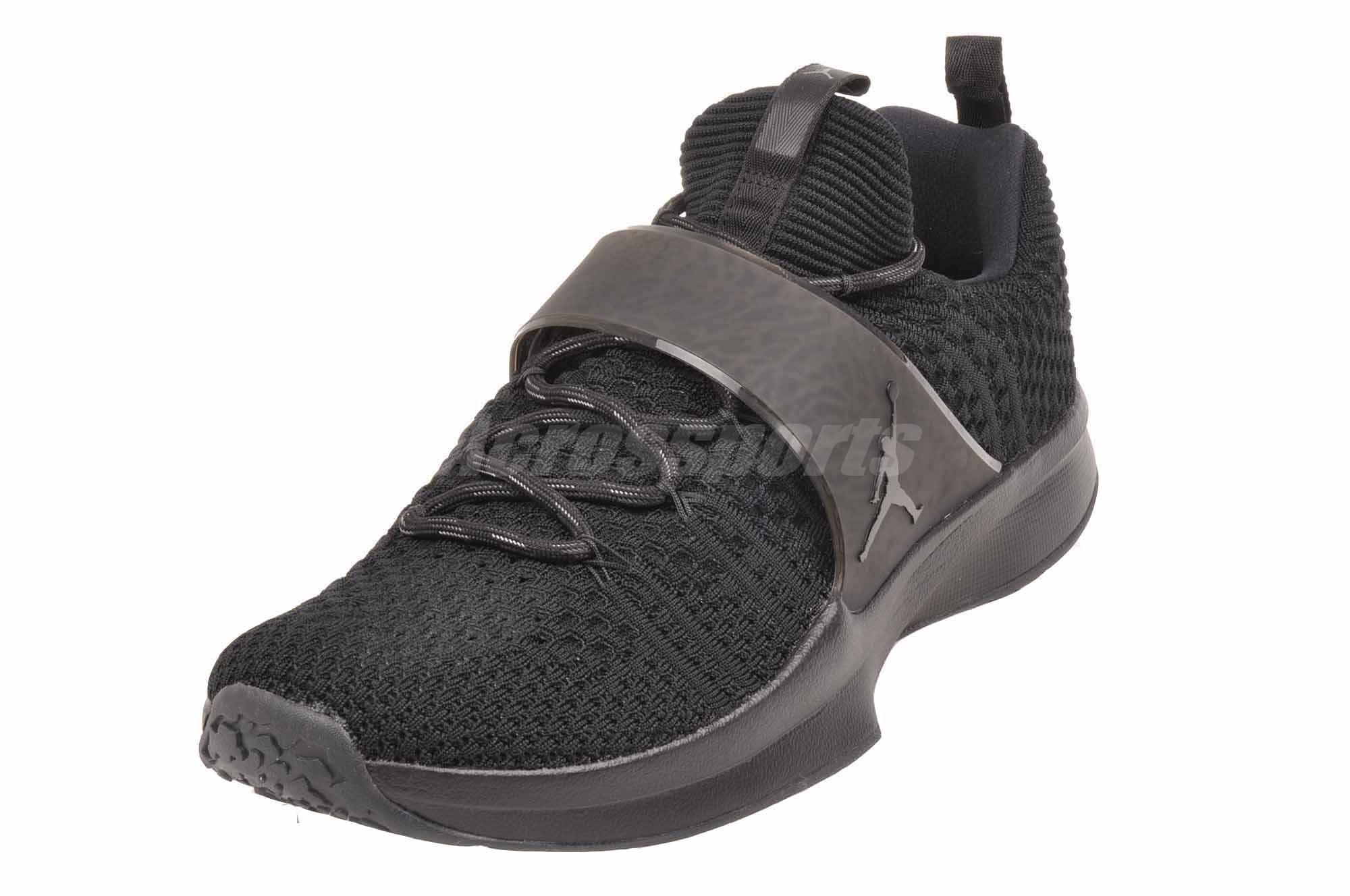 Nike Jordan Trainer 2 Flyknit Cross Training Mens Shoes Air Black ... 9e1db6e12e6