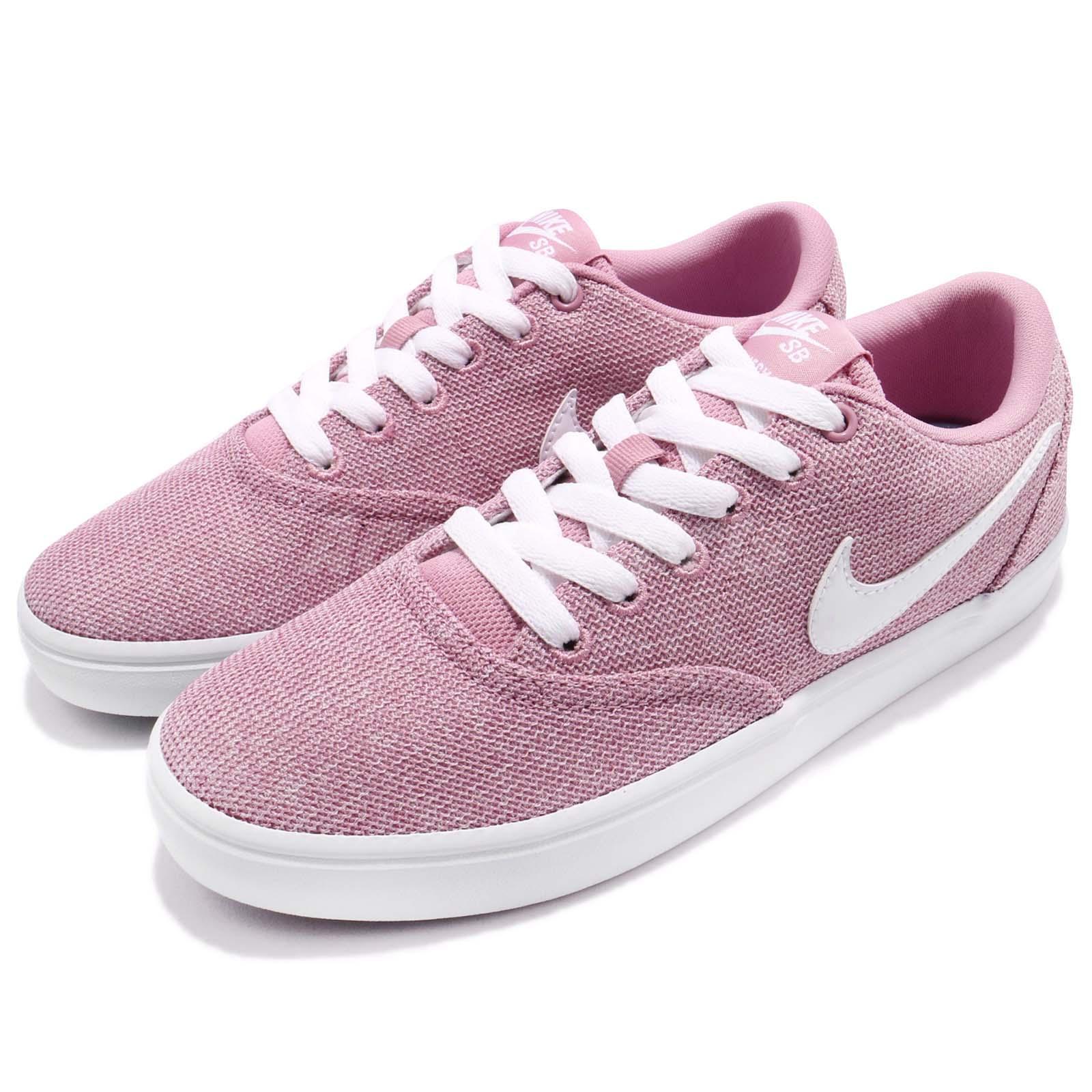 Wmns Nike SB Check Solar CVS P Canvas Pink White Women Skateboarding 921464-610