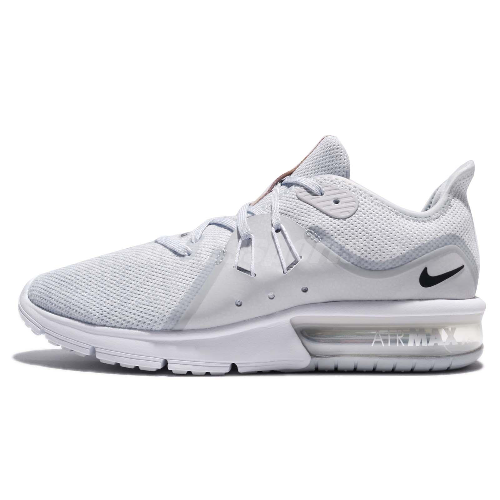 new arrival eded2 67d8f Nike Air Max Sequent 3 III Pure Platinum White Men Running Shoes 921694-008