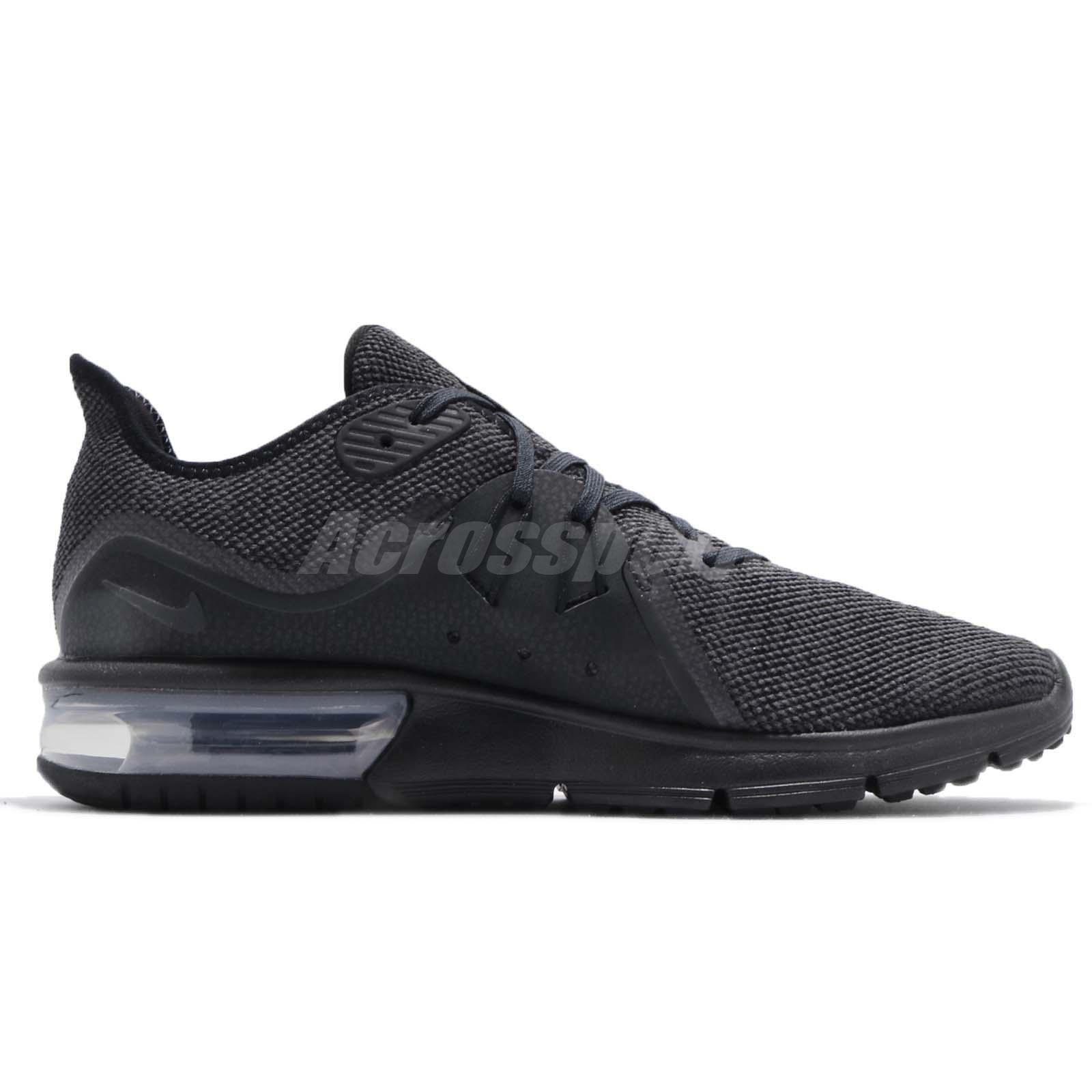 1859f4326d Nike Air Max Sequent 3 III Black Anthracite Grey Men Running Shoes ...