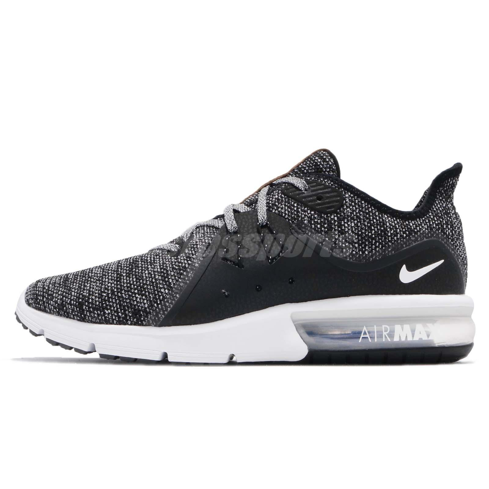 90f2f0f8ffe78 Nike Air Max Sequent 3 III Black White Grey Men Running Shoes Sneaker 921694 -011