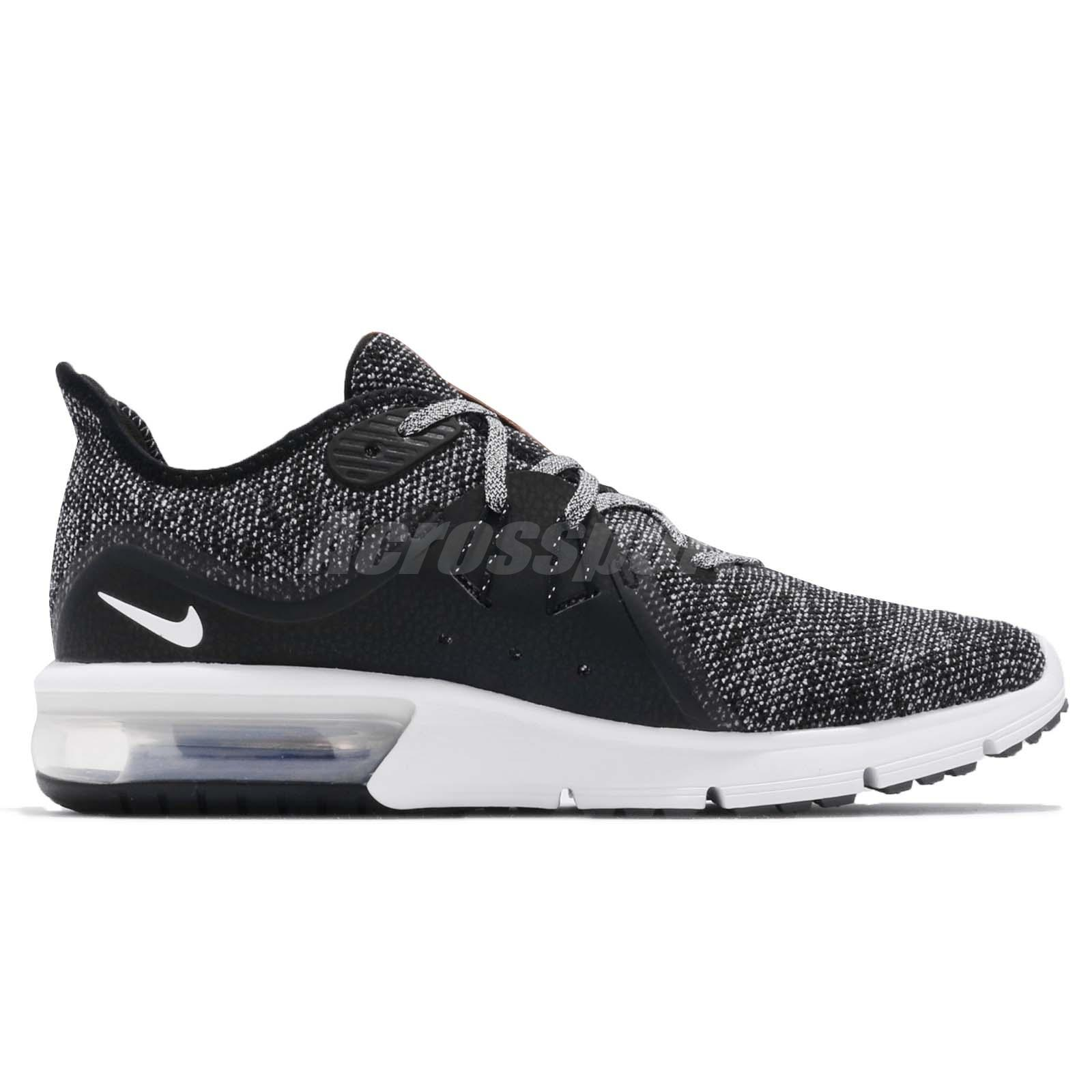 9cc5bd216 Nike Air Max Sequent 3 III Black White Grey Men Running Shoes ...